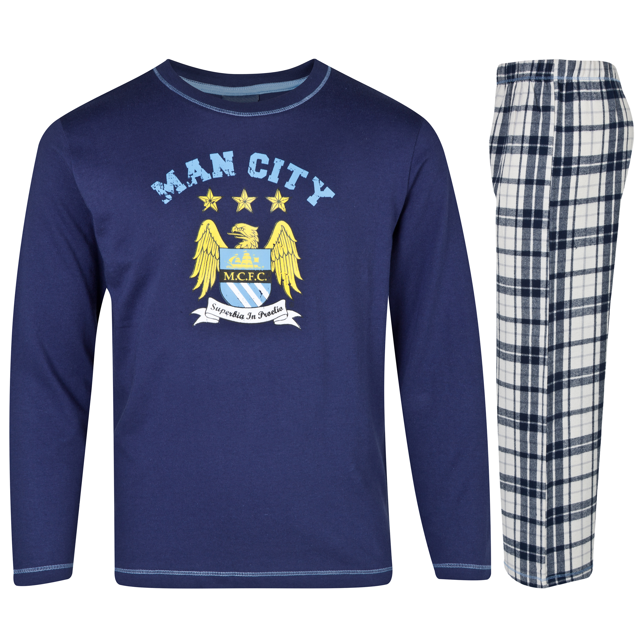Manchester City Crest Pyjama Older Boys Navy