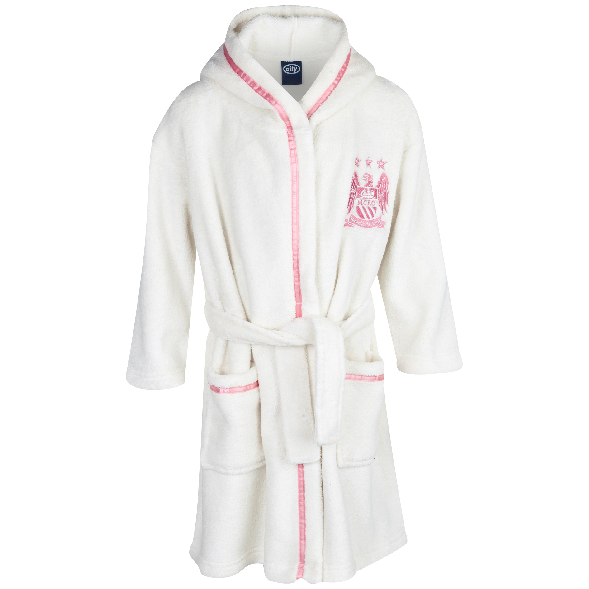 Manchester City Robe Girls Cream