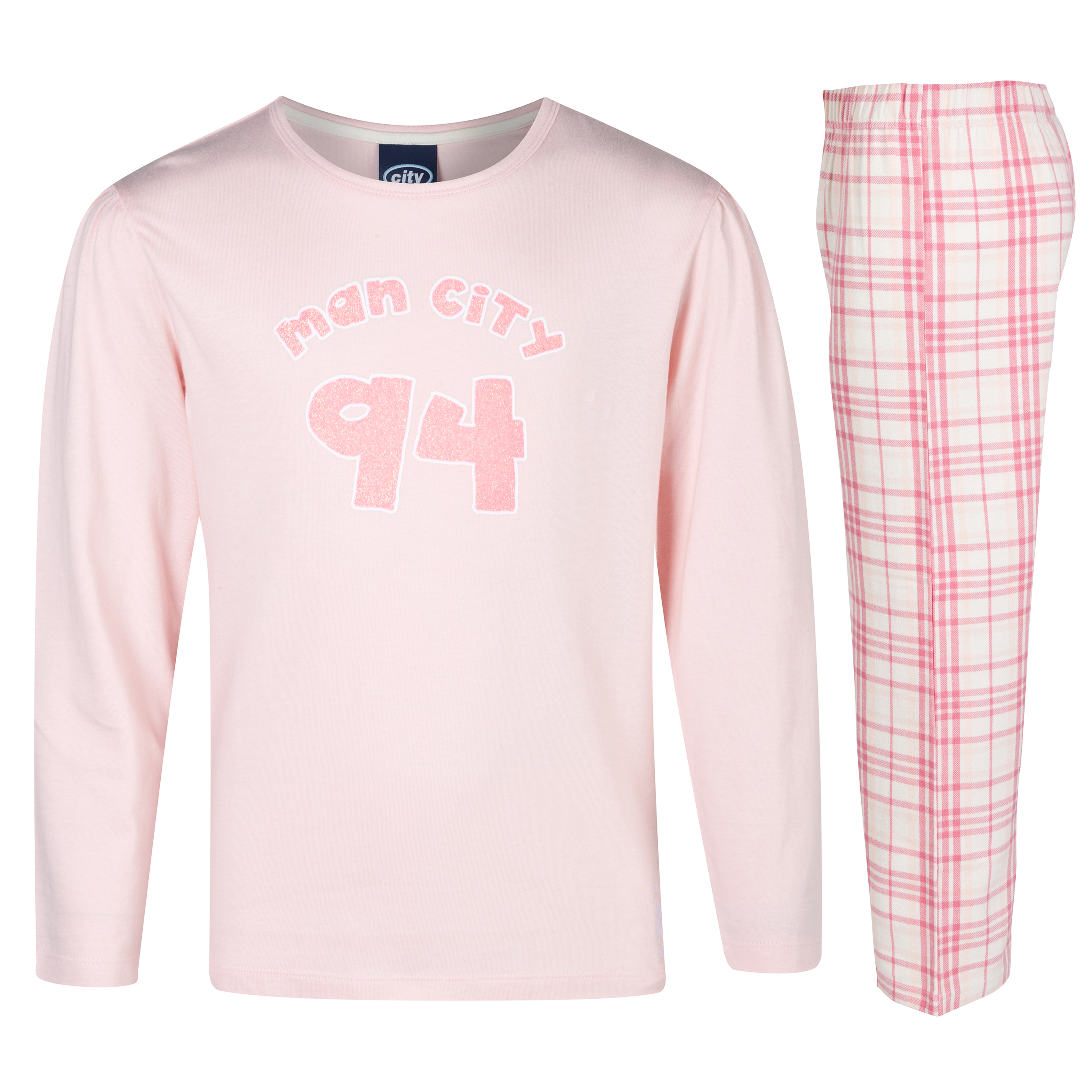 Manchester City 94 Pyjamas Older Girls Pink