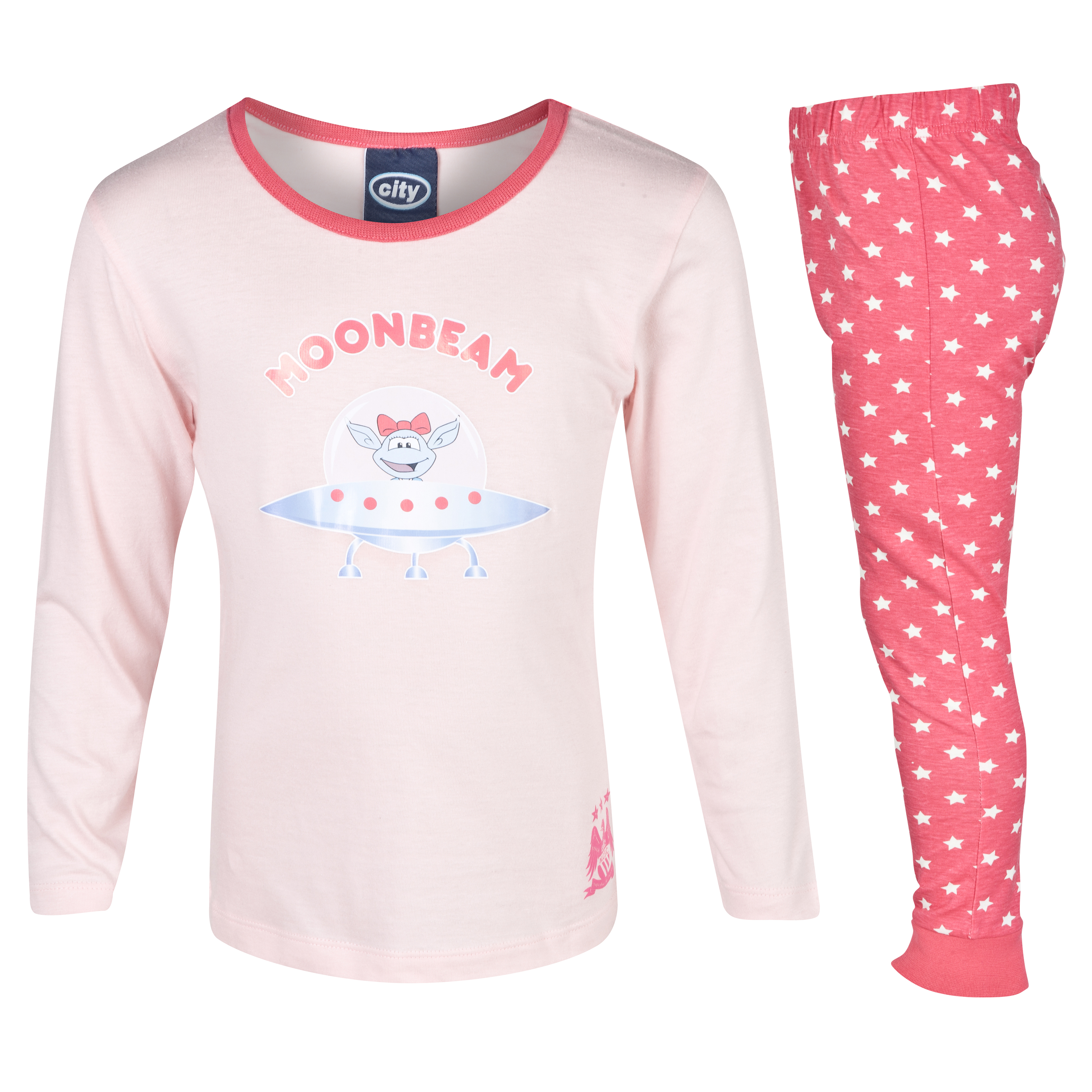 Manchester City Moonbeam Pyjamas Infant Girls Pink