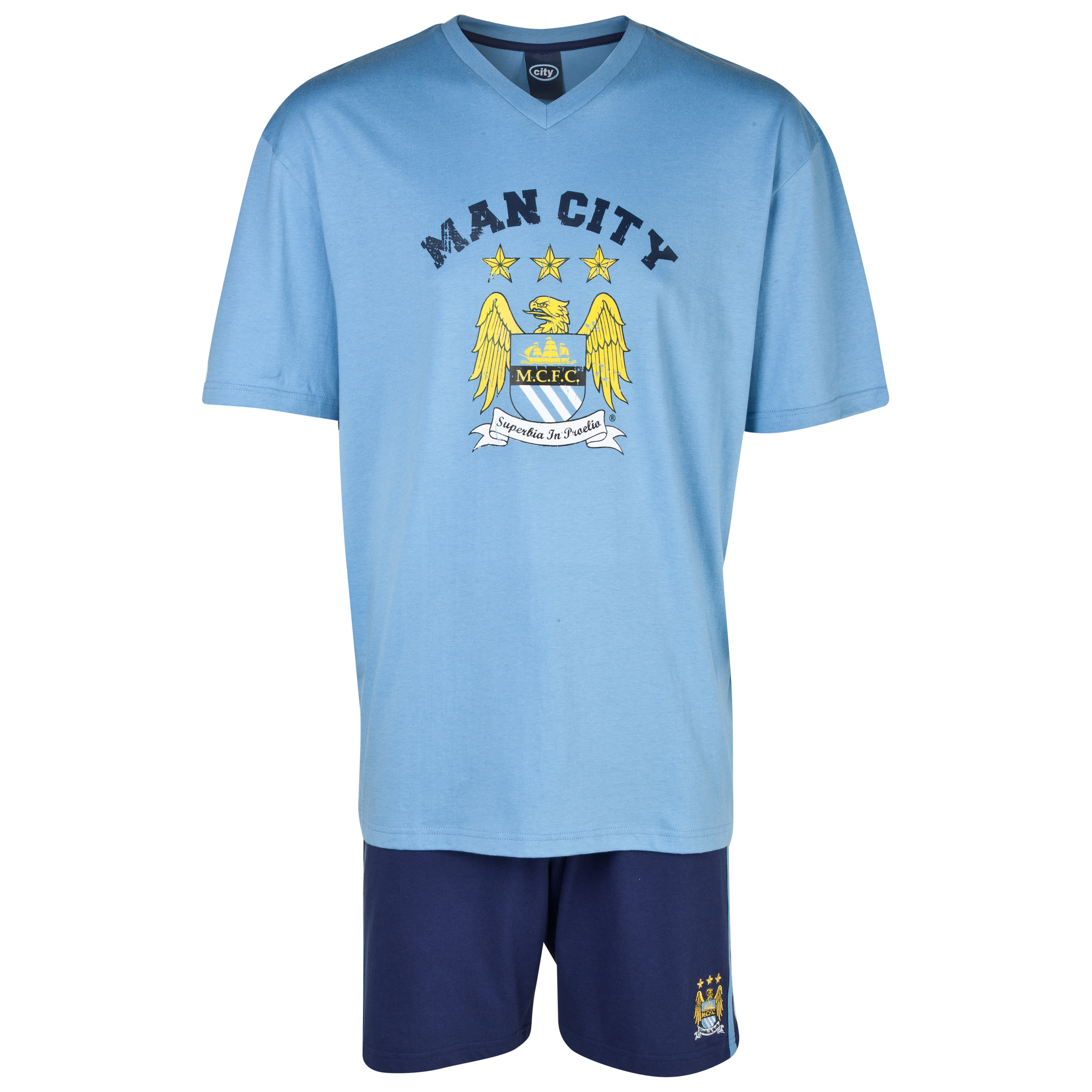 Manchester City Short Pyjamas Lt Blue