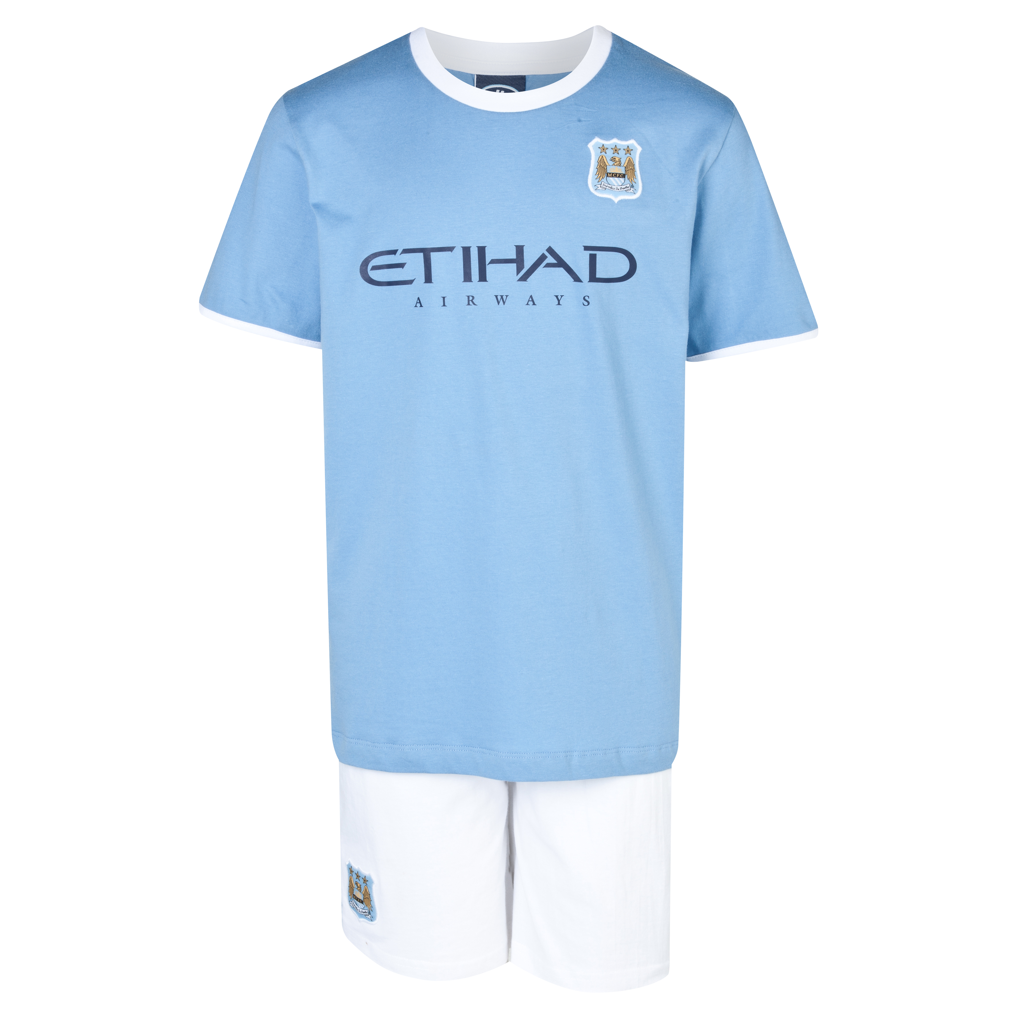 Manchester City 13/14 Kit Pyjamas Boys Lt Blue