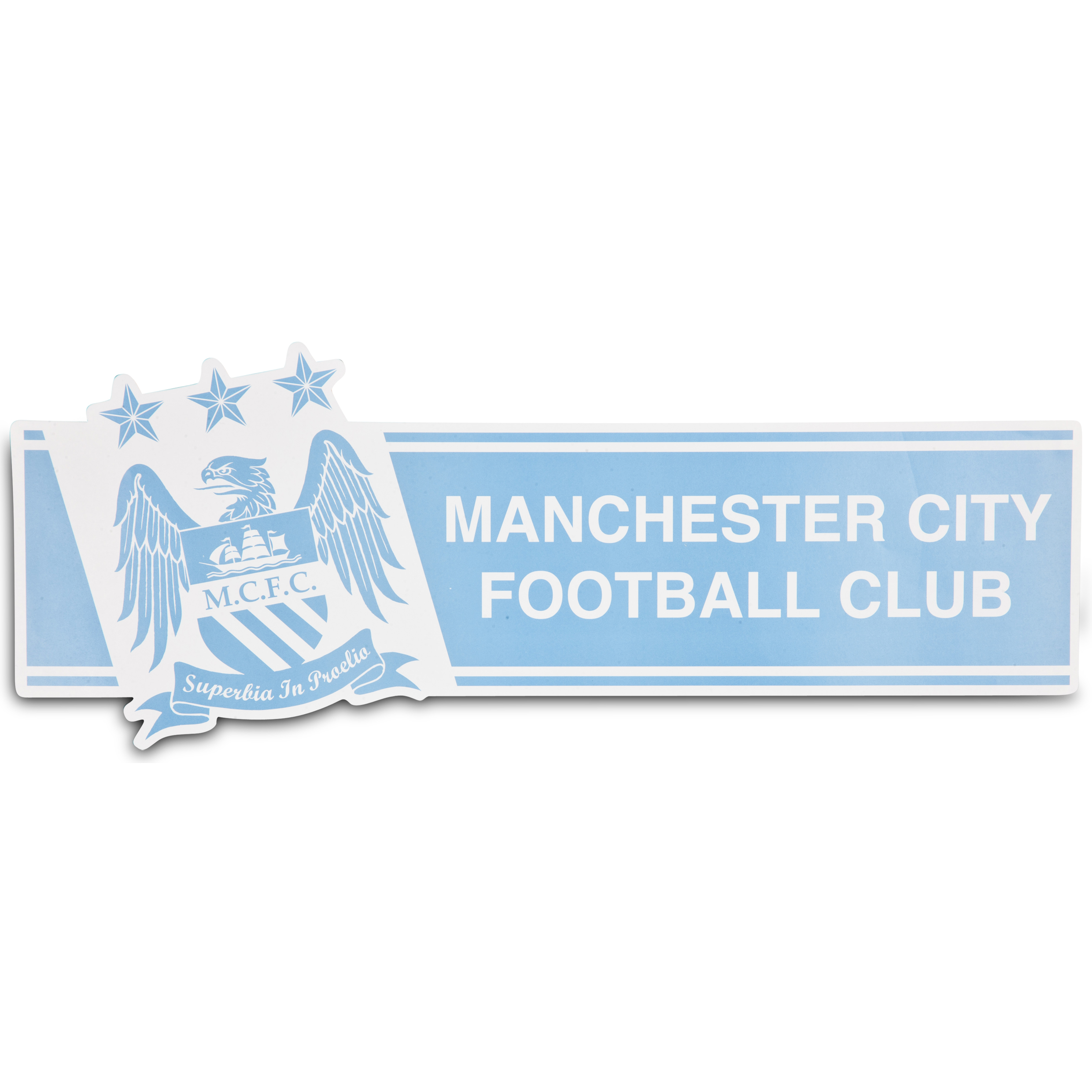 Manchester City Long Car Sticker
