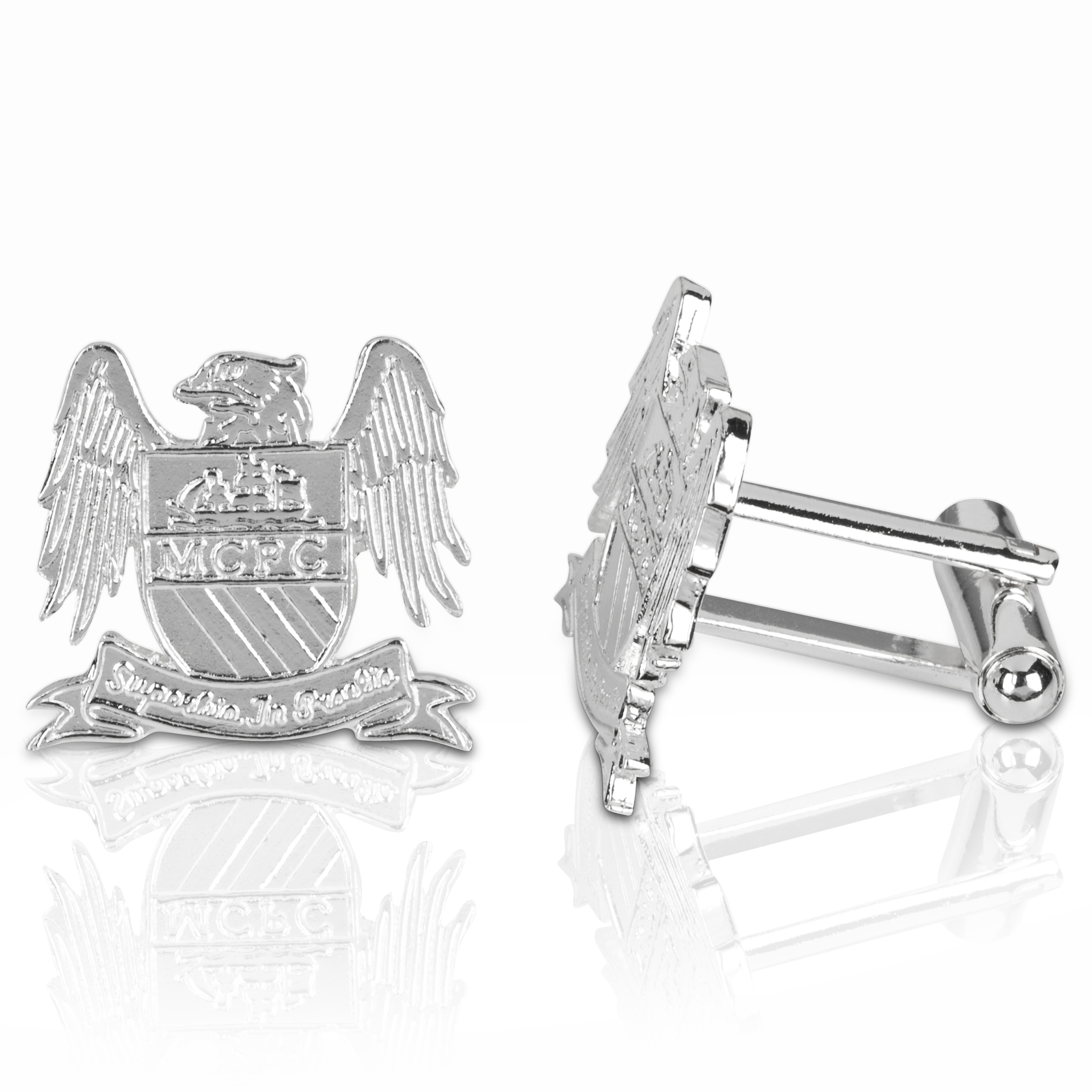 Manchester City Silver Plated Cufflinks