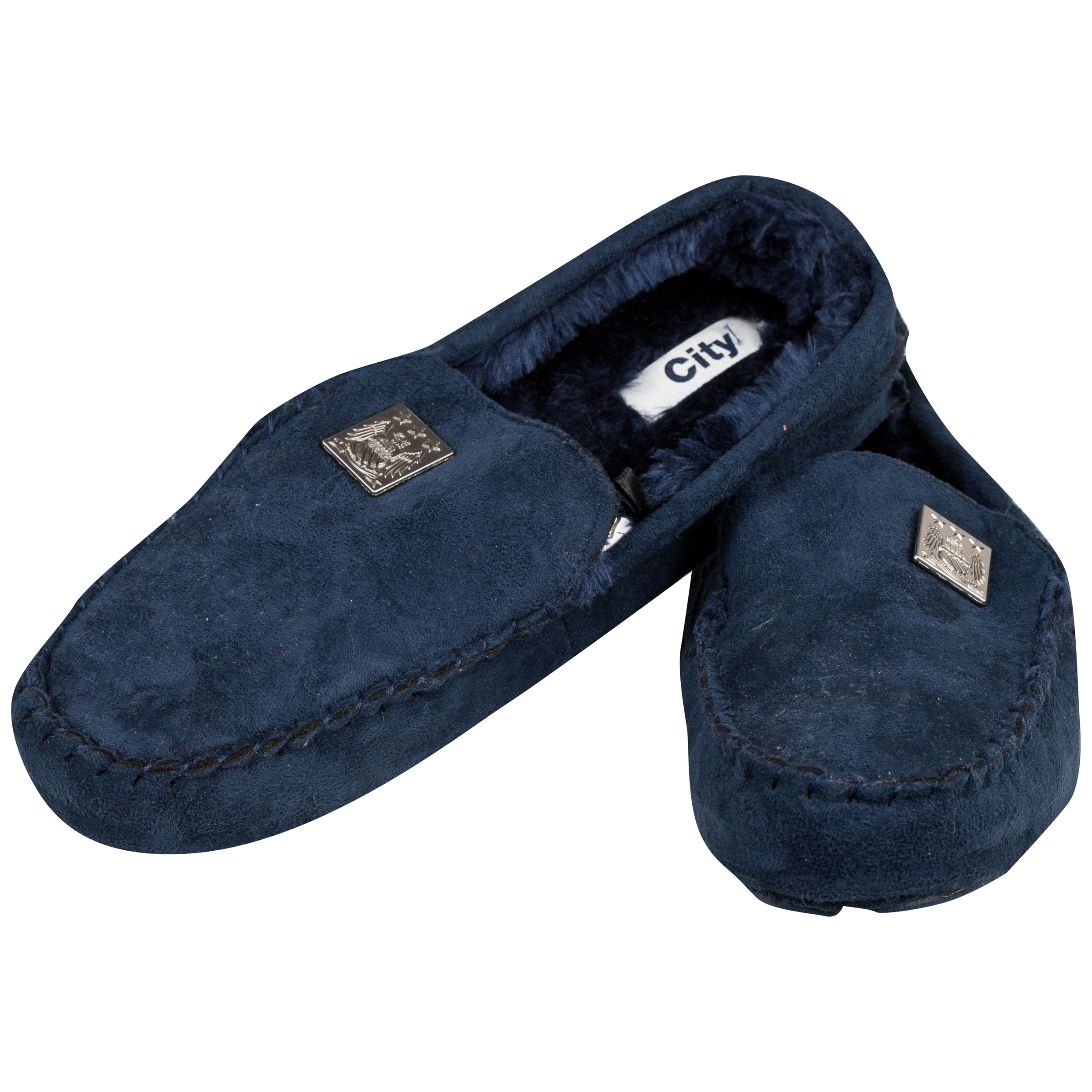 Manchester City Stanley Slippers - Mens Navy