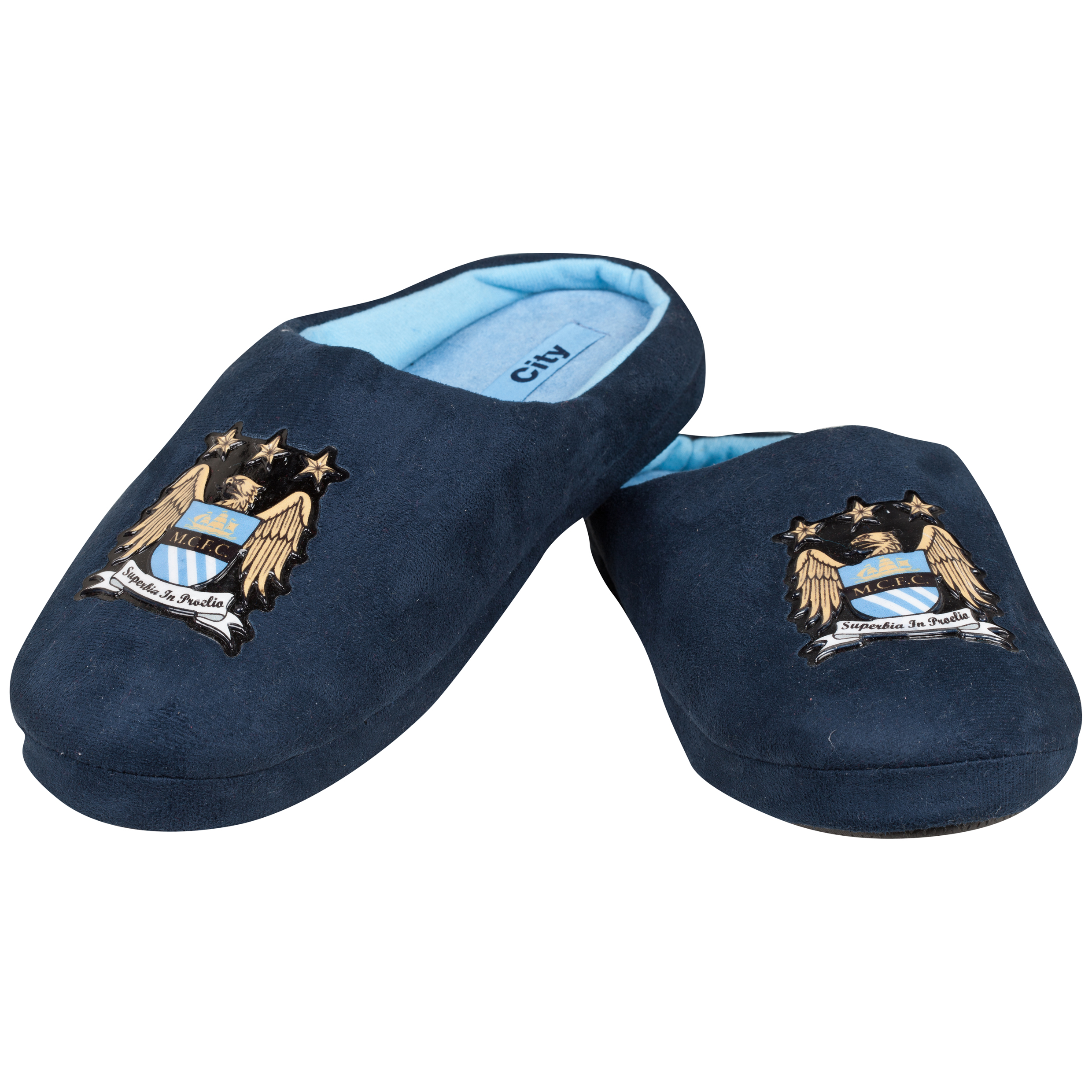 Manchester City Mason Slippers - Boys Navy