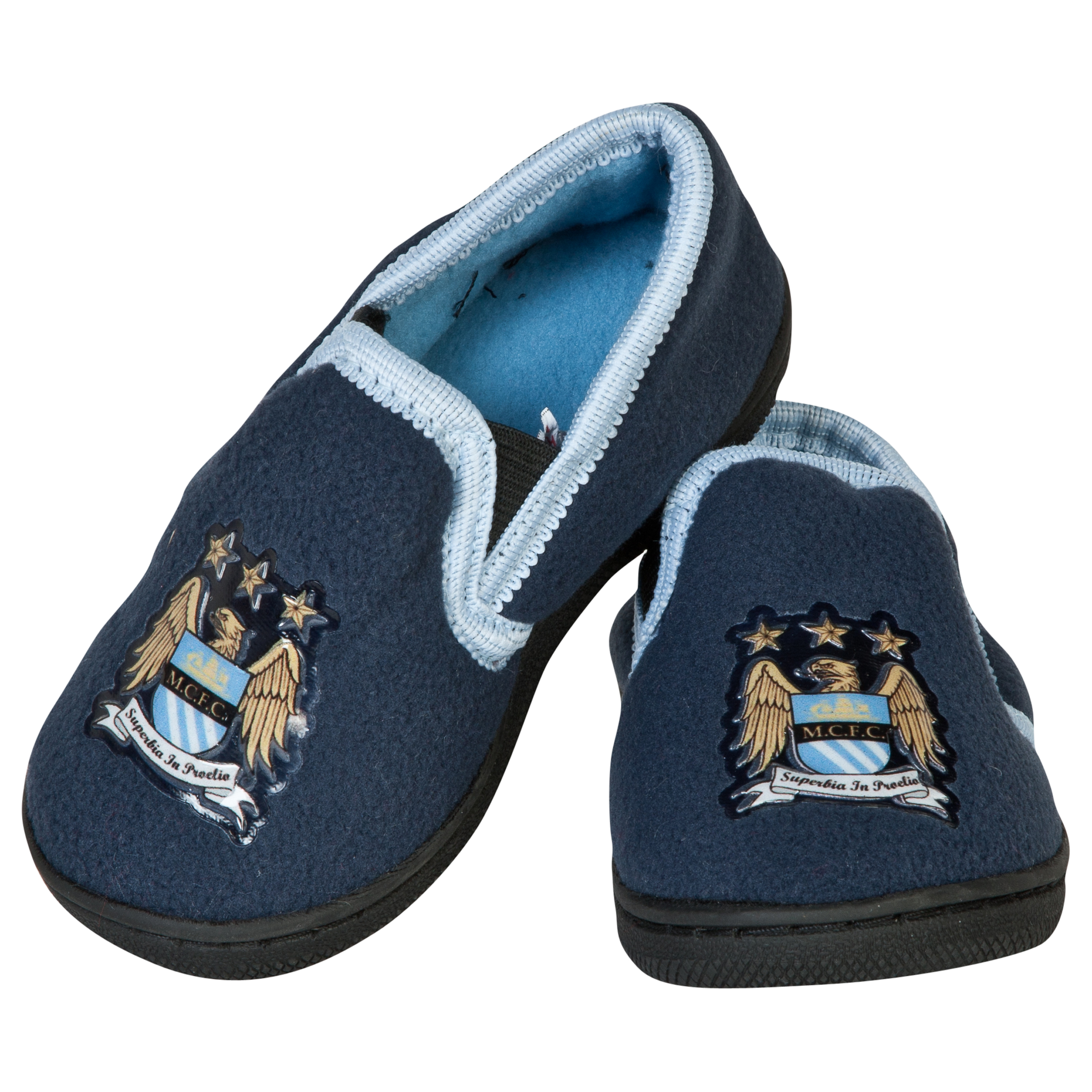 Manchester City Joshua Slippers - Inf Boys Navy