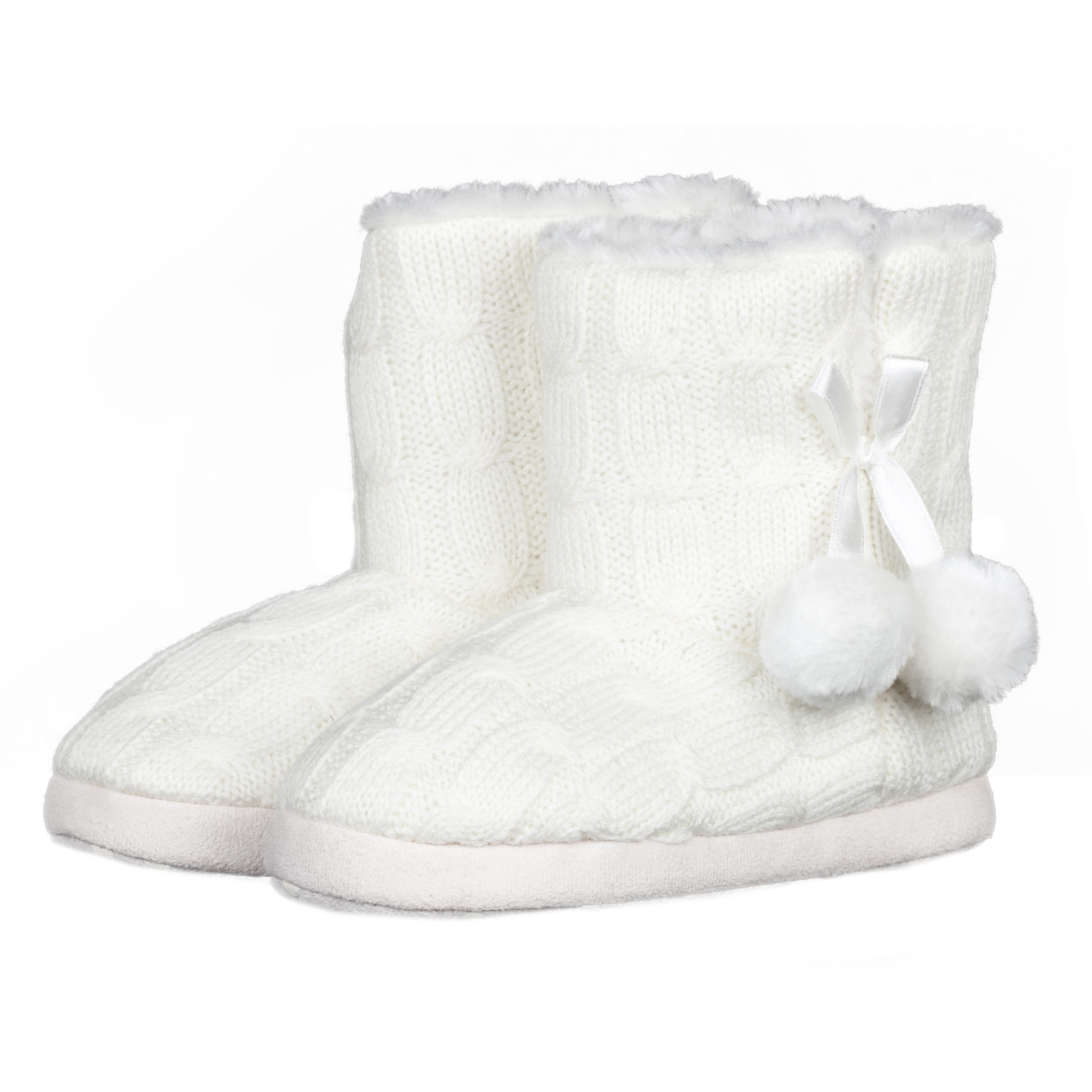 Manchester City Ella Boot Slippers - Cream - Girls Cream