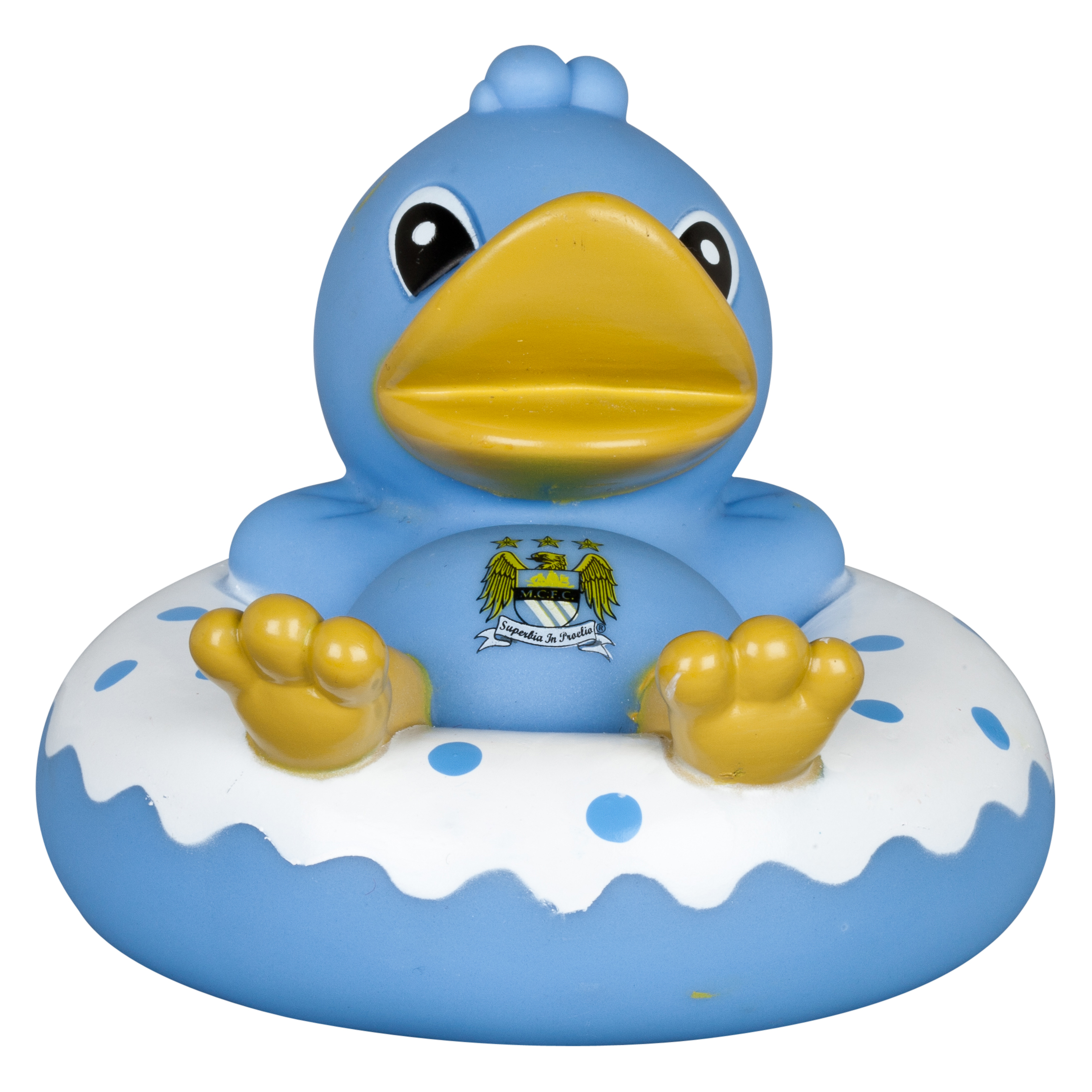 Manchester City Rubber Ring Vinyl Bath Duck