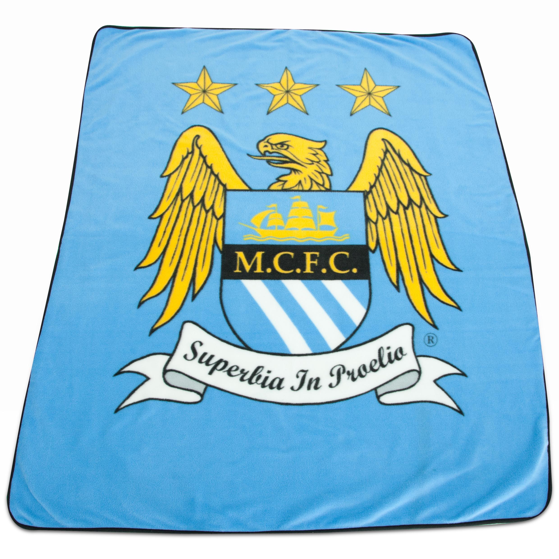 Manchester City Crest Fleece Throw