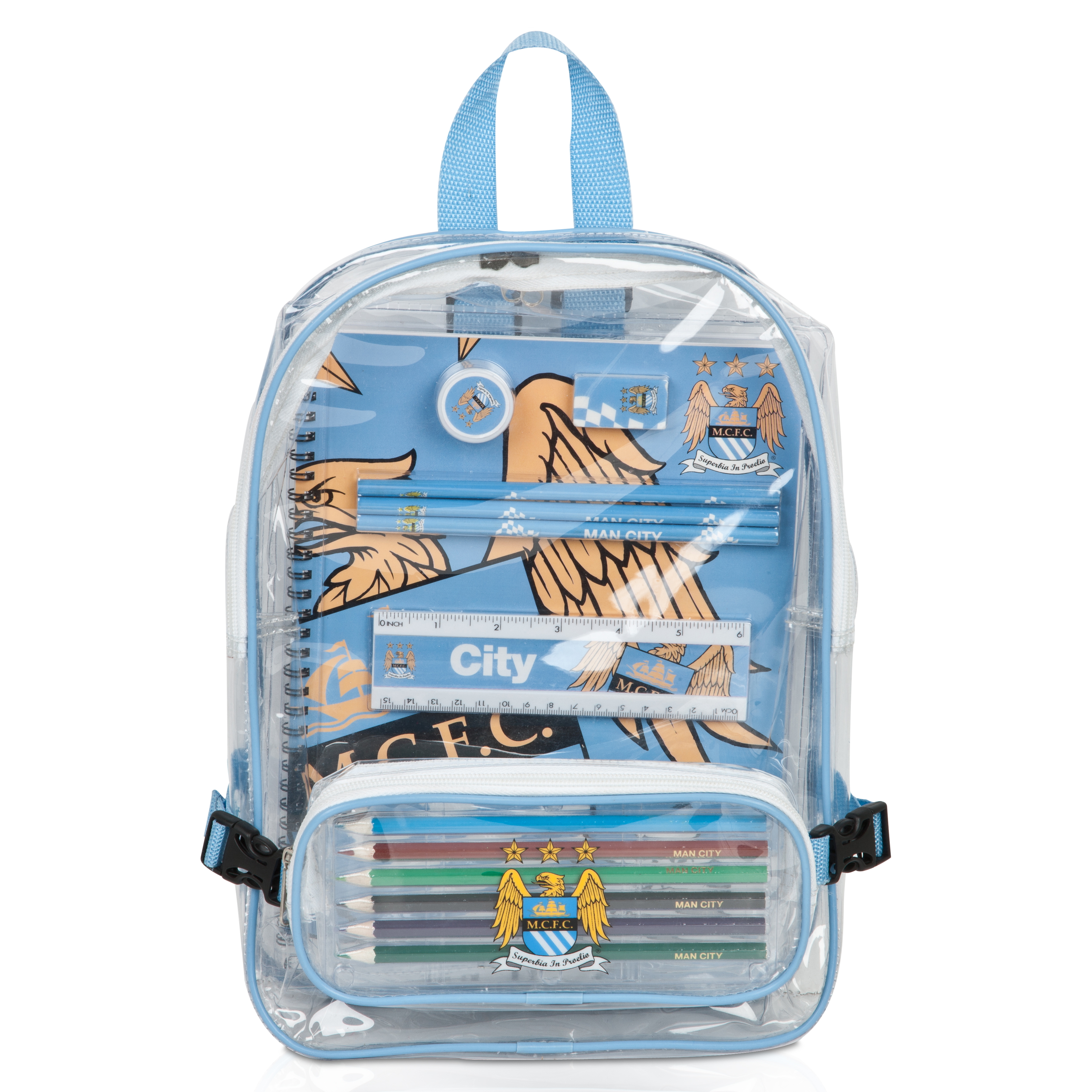 Manchester City Backpack Stationery Set