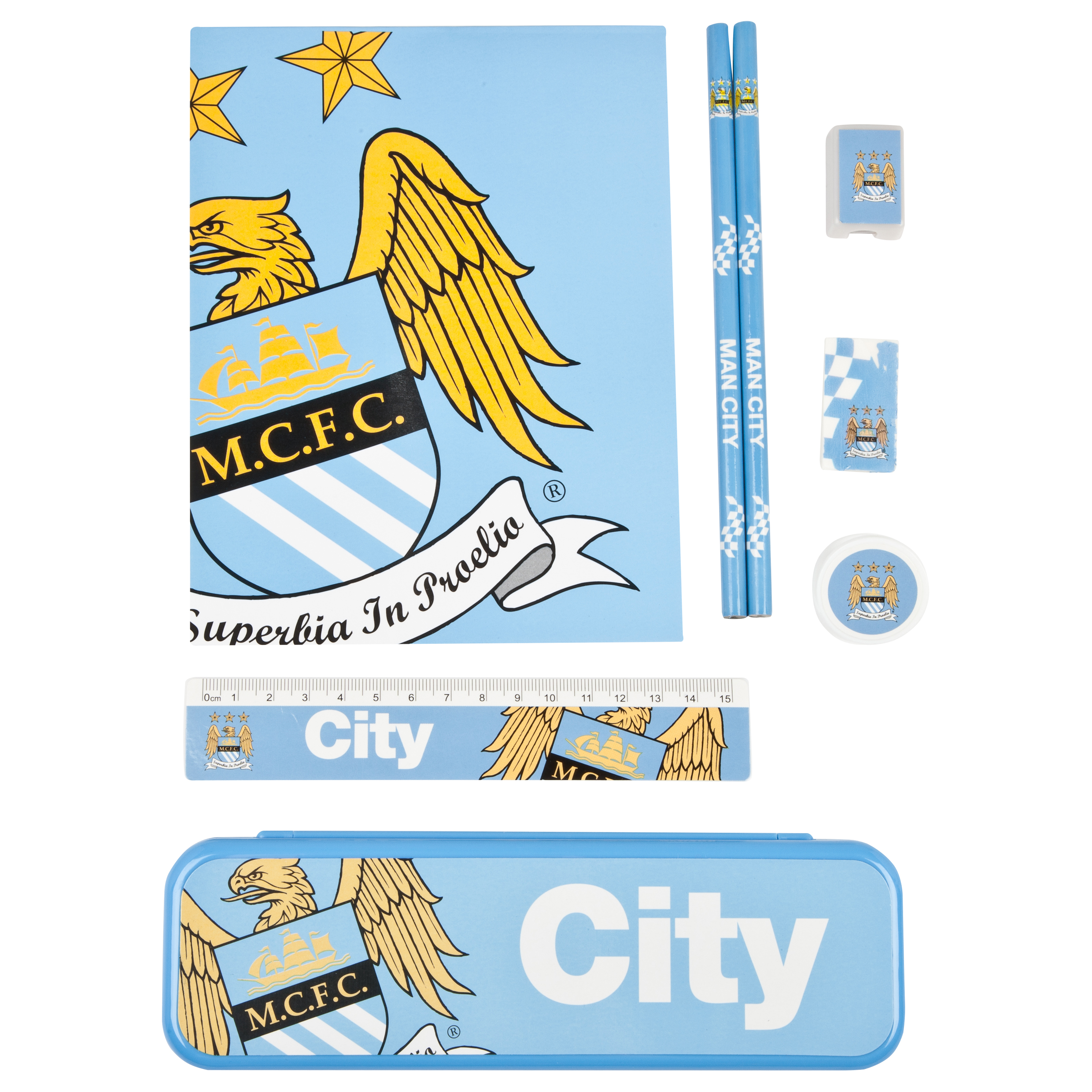 Manchester City Student Stationery Set