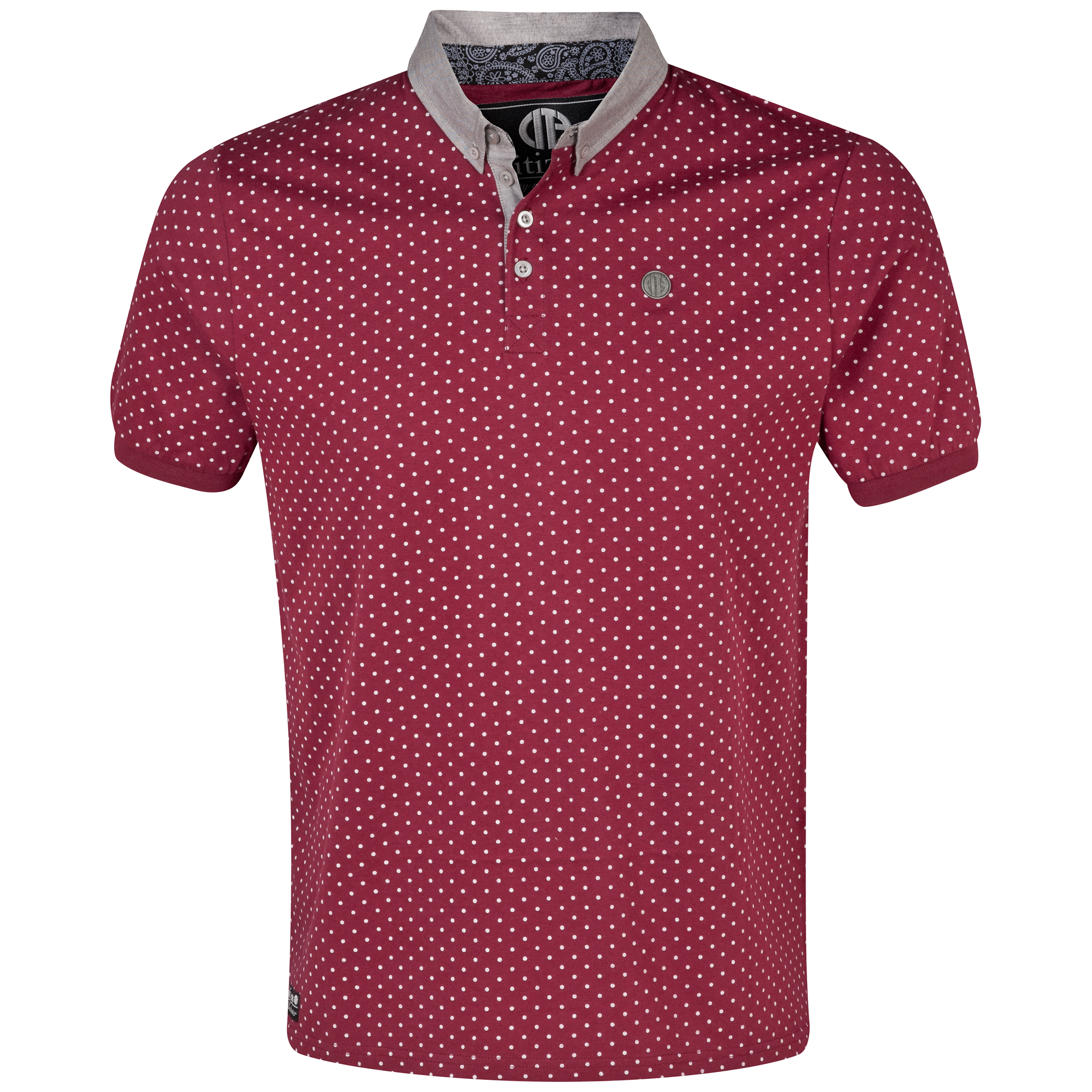 Manchester City Stirling Polo Shirt - Mens-Maroon/ Dk Green
