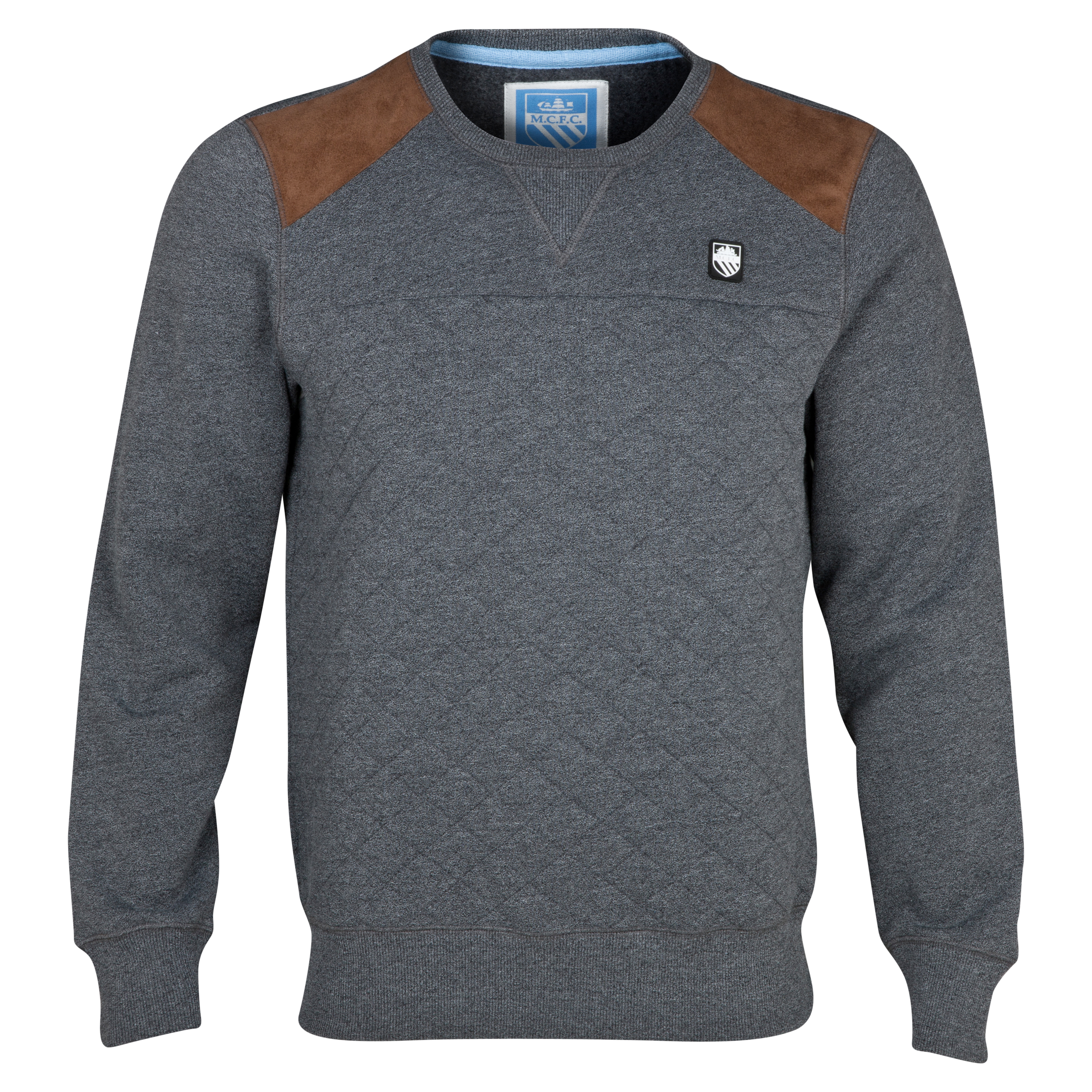 Manchester City Tacoma Crew Neck Sweater - Mens Grey