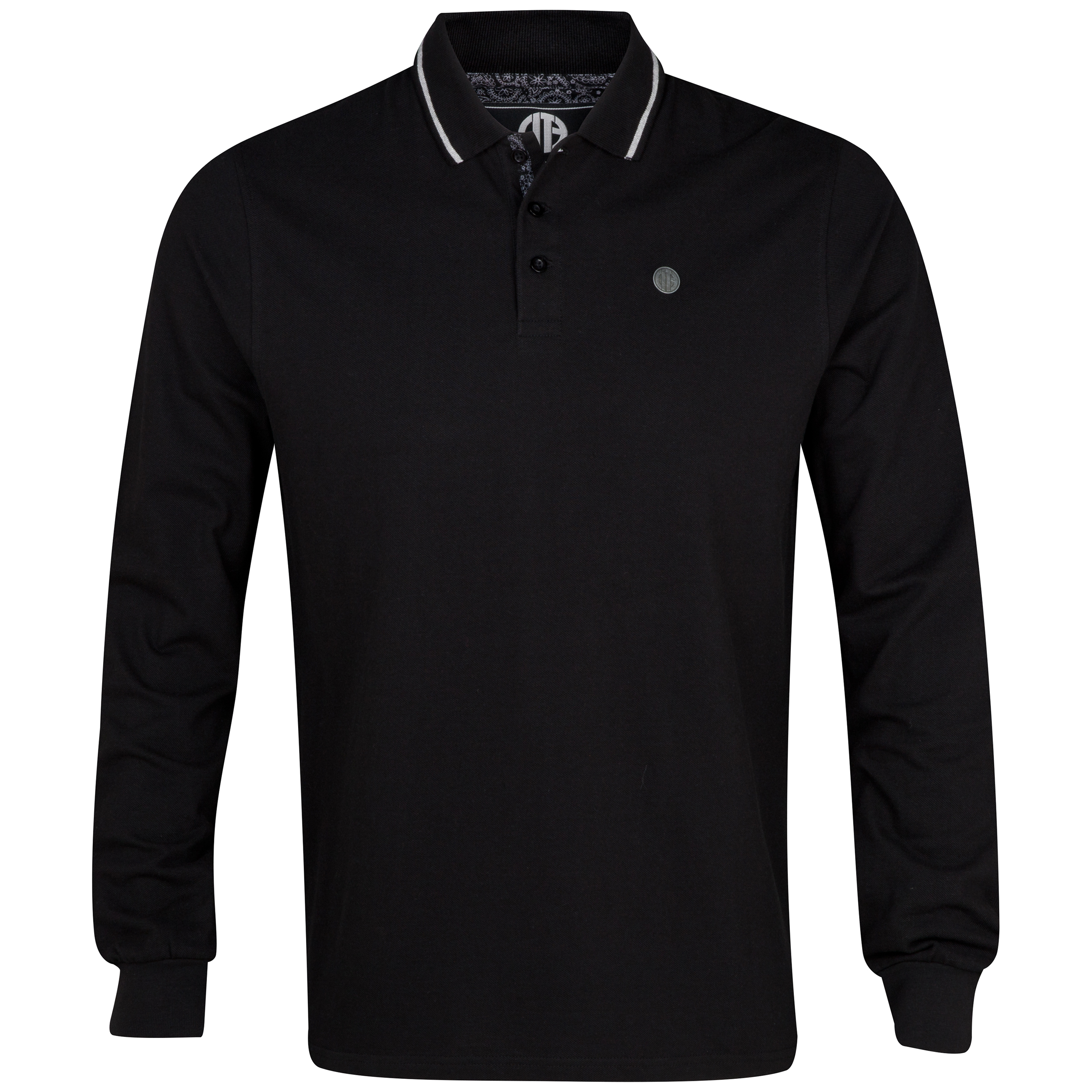 Manchester City Mull LS Polo Shirt - Mens Black