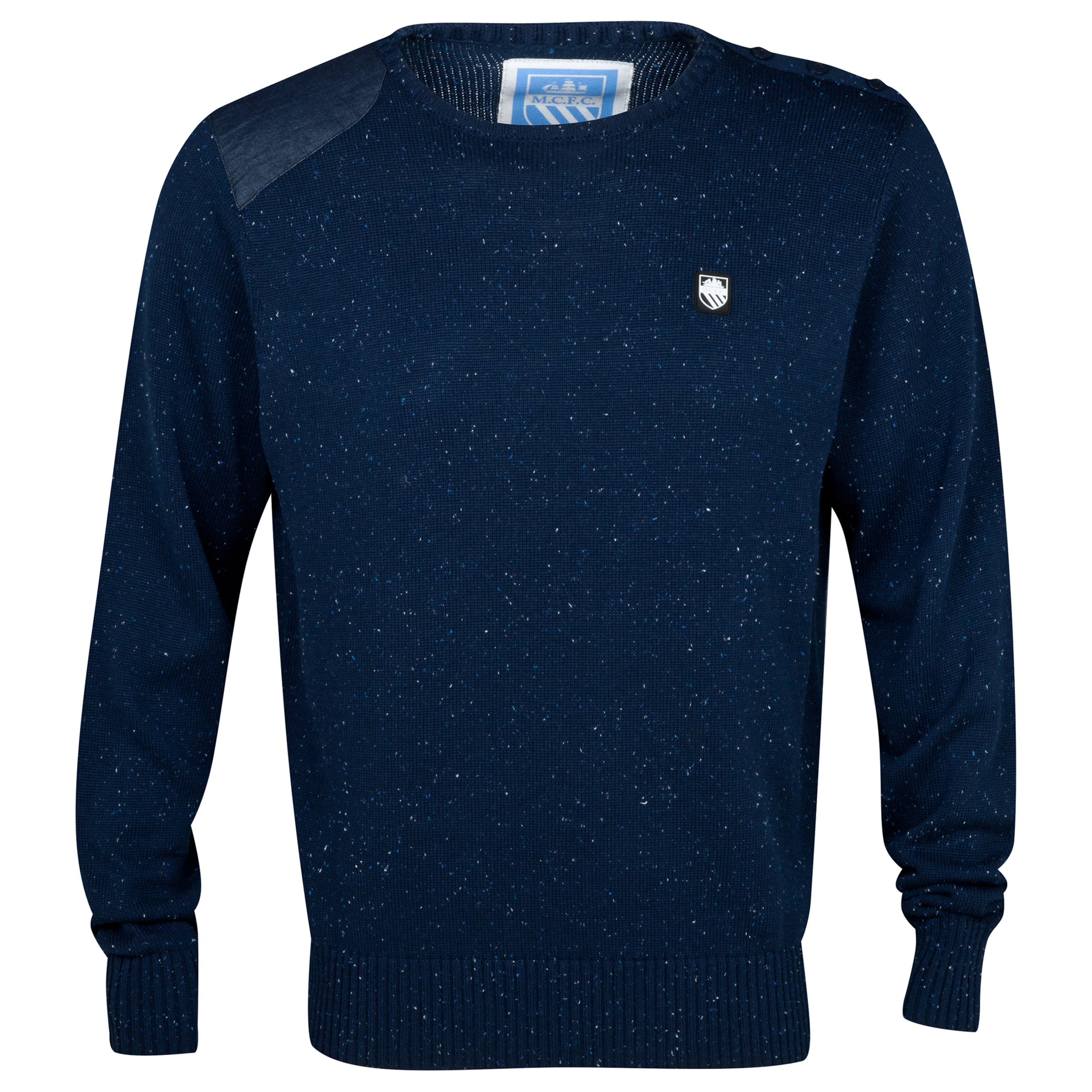 Manchester City Calgary Crew Neck Jumper - Mens Navy