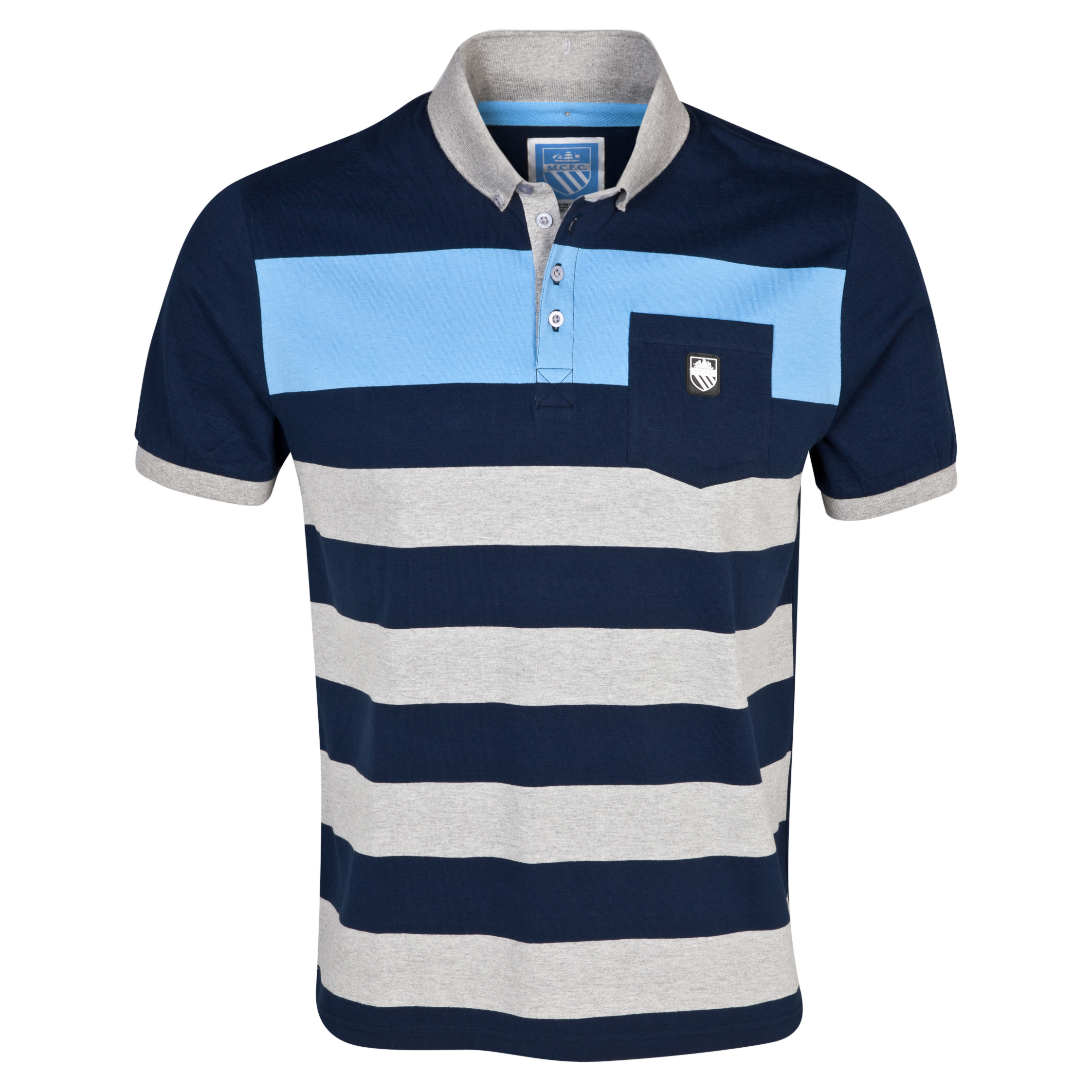 Manchester City Lexington Polo Shirt - Boys Lt Grey