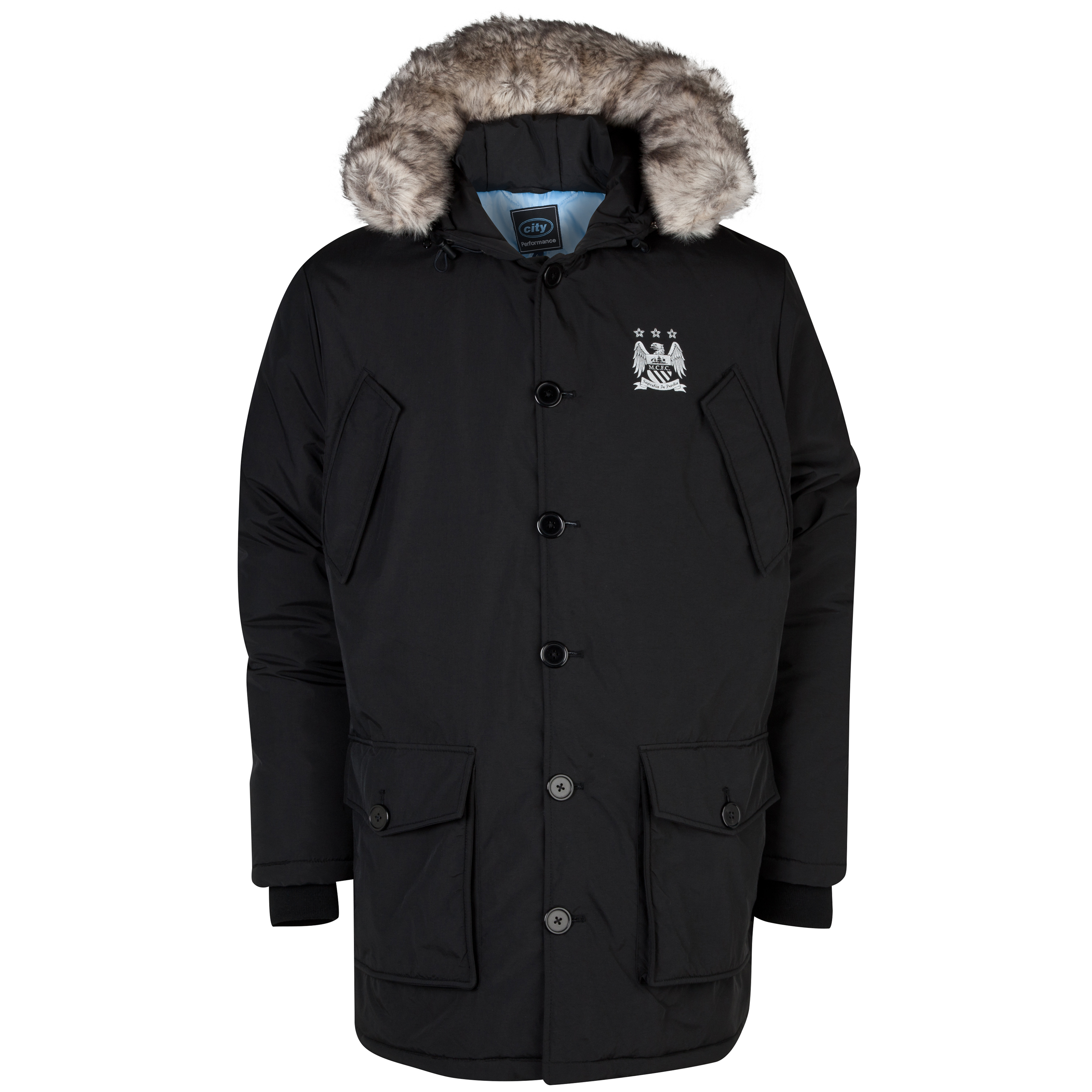 Manchester City Performance Drake Coat - Mens Black