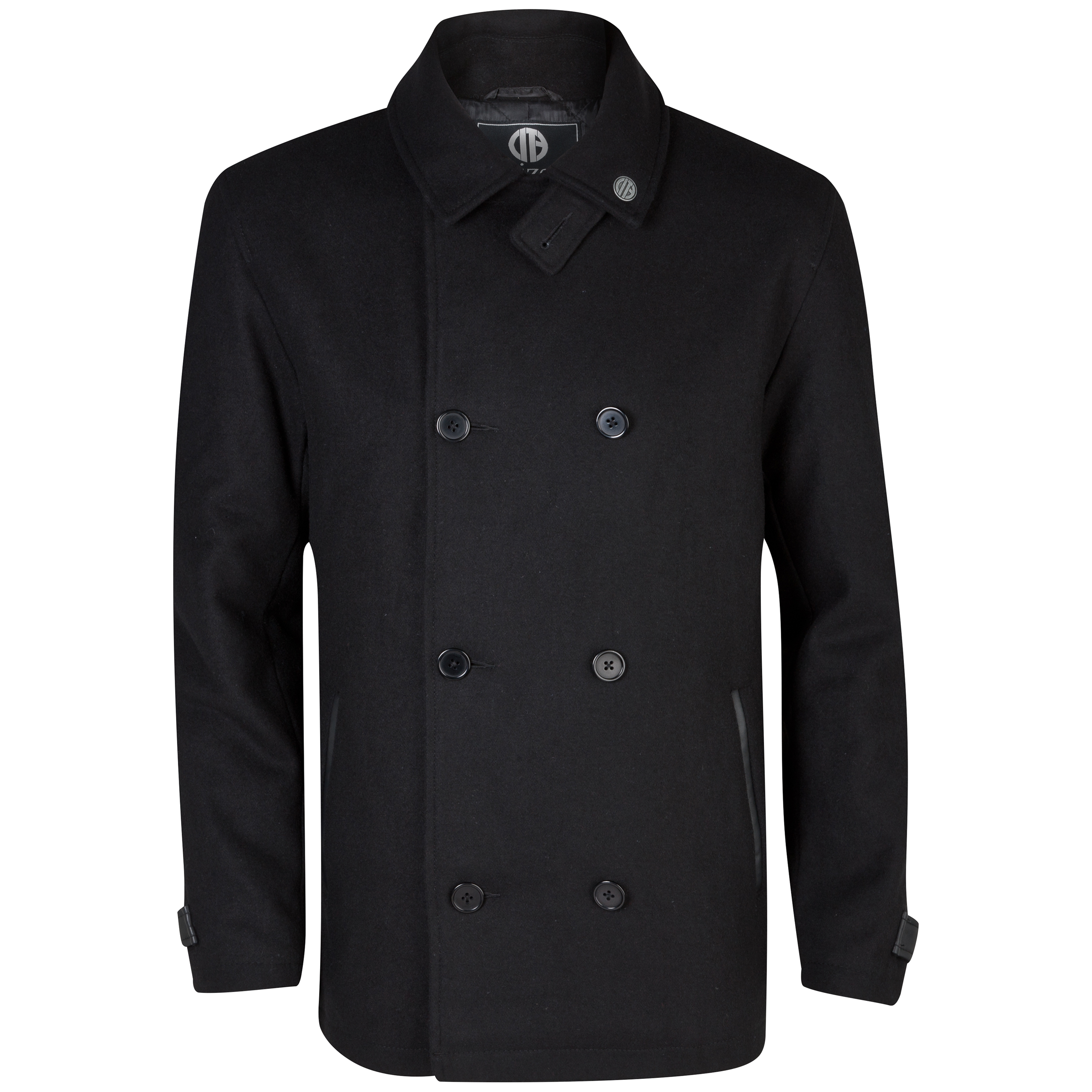 Manchester City Huntly Pea Coat - Mens Black