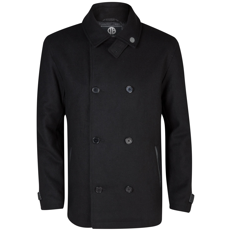 Manchester City Huntly Pea Coat - Mens Black