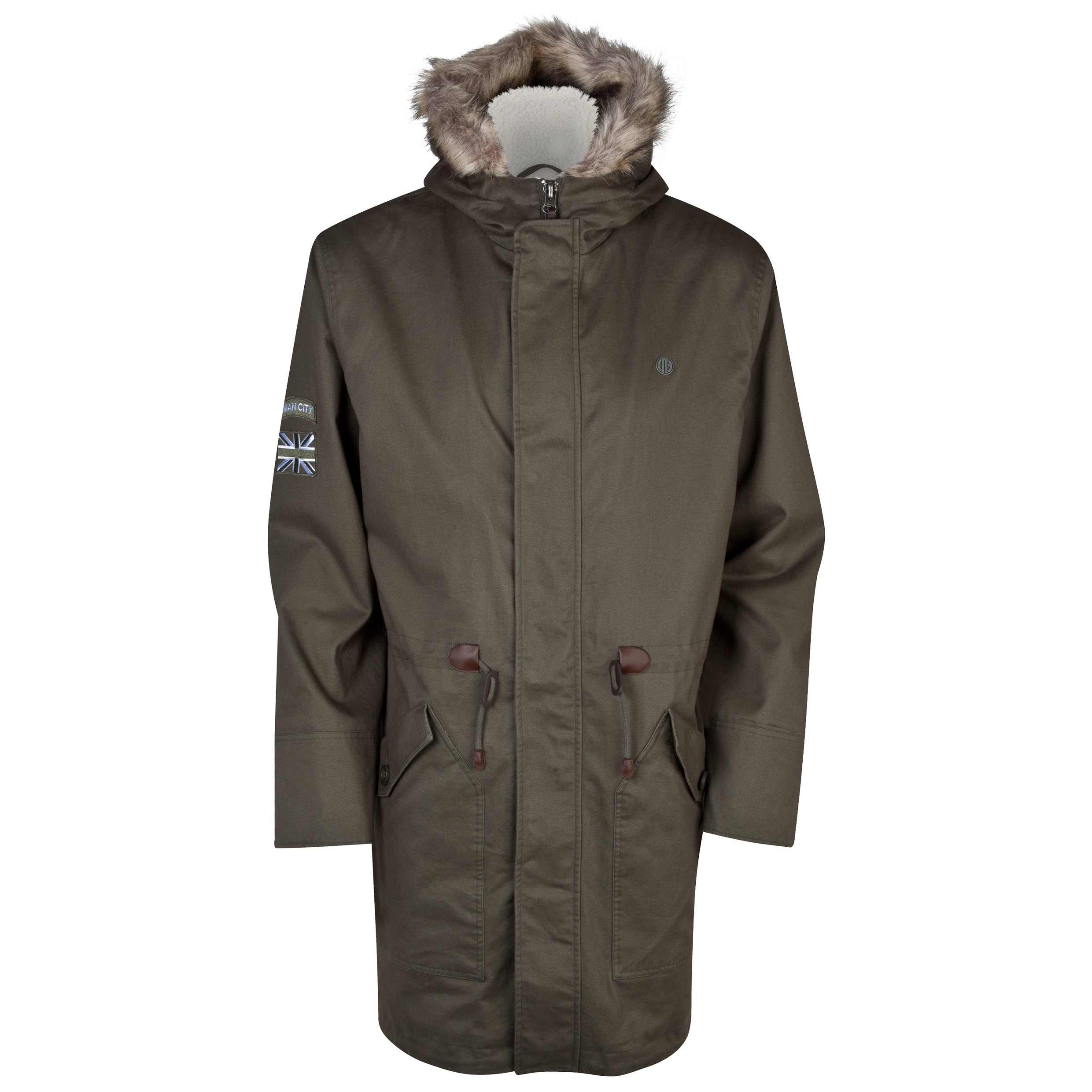 Manchester City Mod Parka - Mens Green
