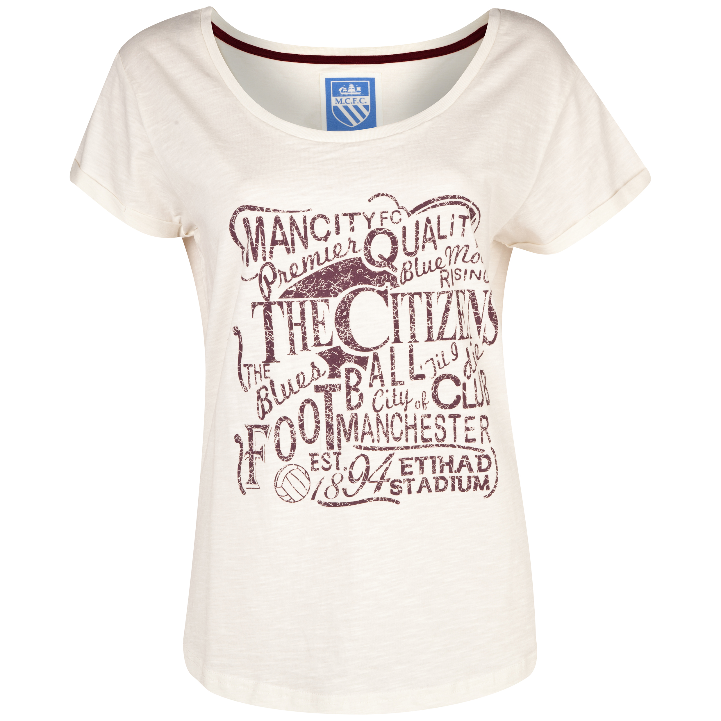 Manchester City Ayesha T-Shirt - Womens Cream