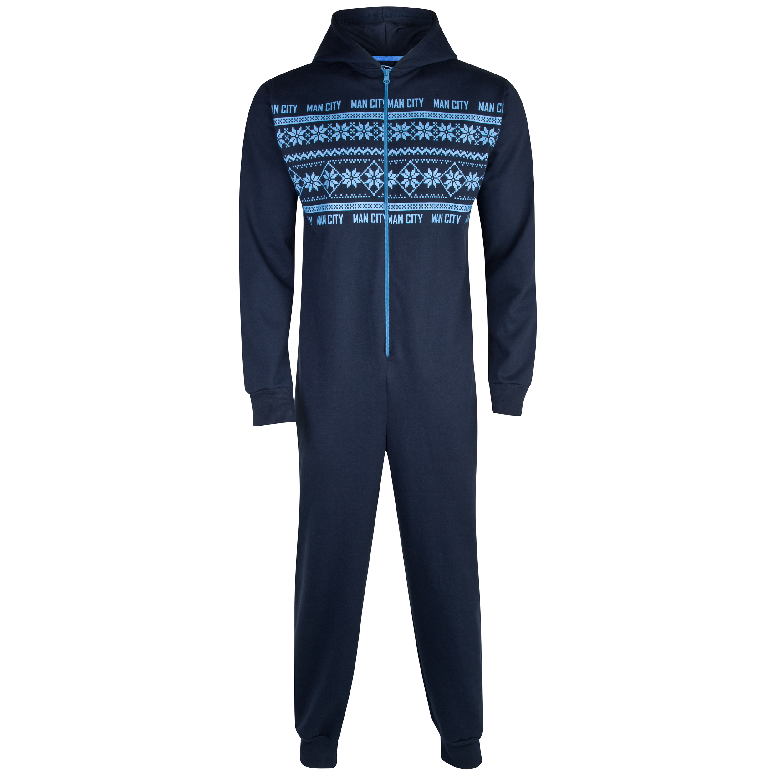Manchester City Fairisle Onesie - Mens Navy