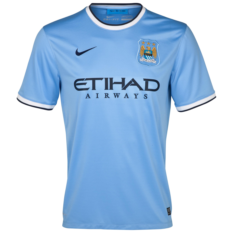 Manchester City Home Shirt 2013/14 - Junior