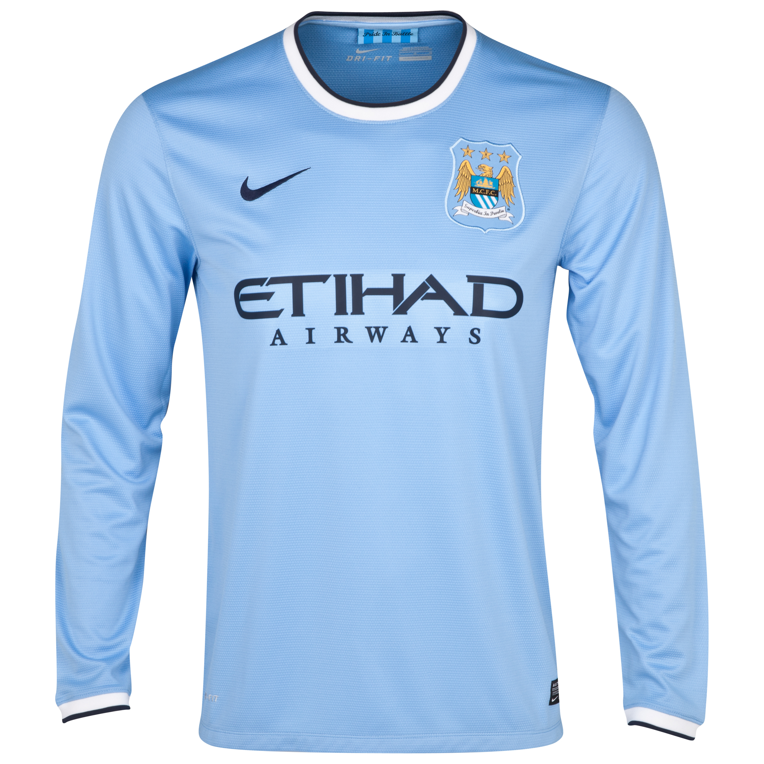 Manchester City Home Shirt 2013/14 - Long Sleeved - Junior