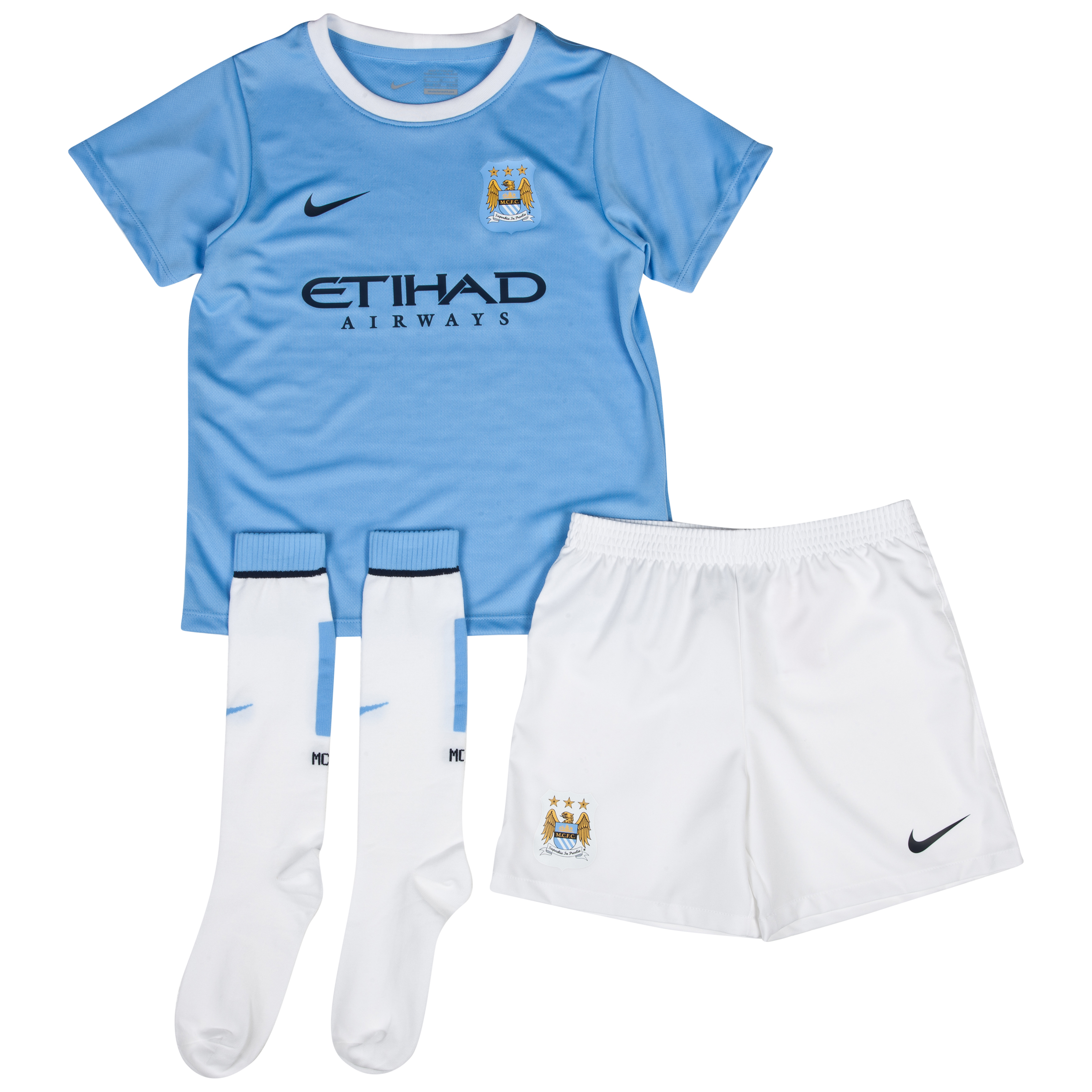Manchester City Home Little Boys Kit 2013/14