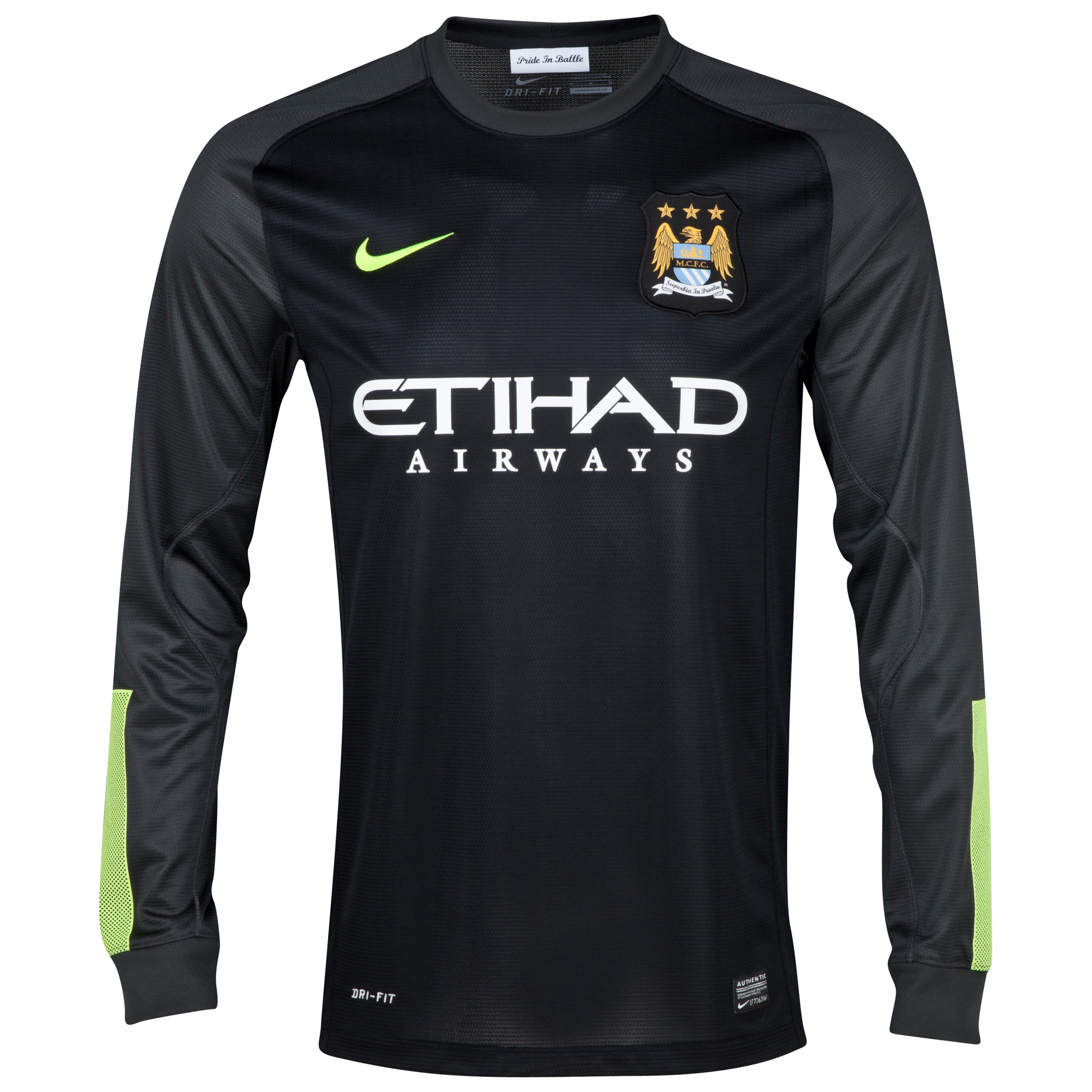 Manchester City Option 2 Goalkeeper Shirt 2013/14 Junior Black