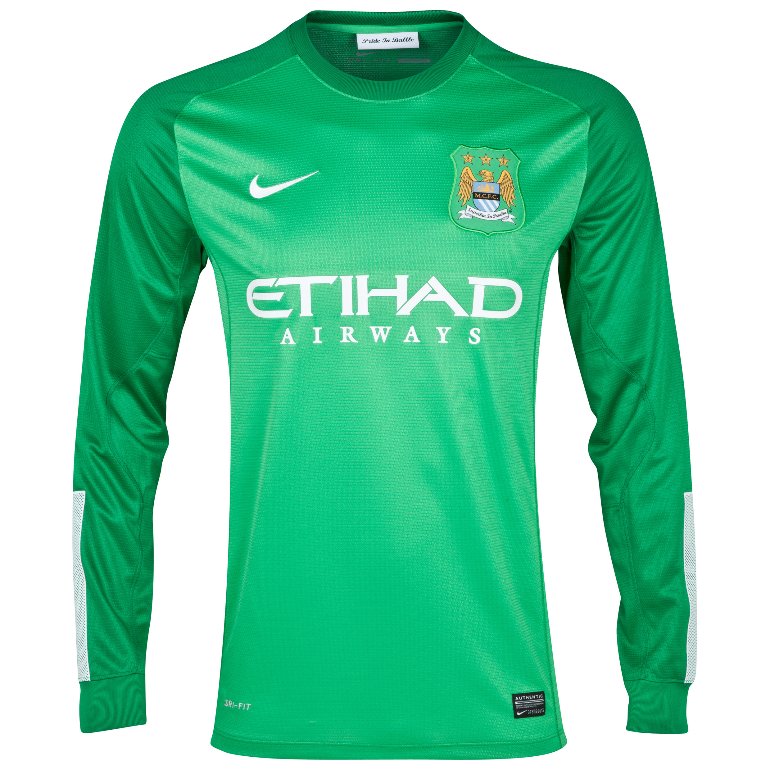 Manchester City Option 1 Goalkeeper Shirt 2013/14 - Junior - Green