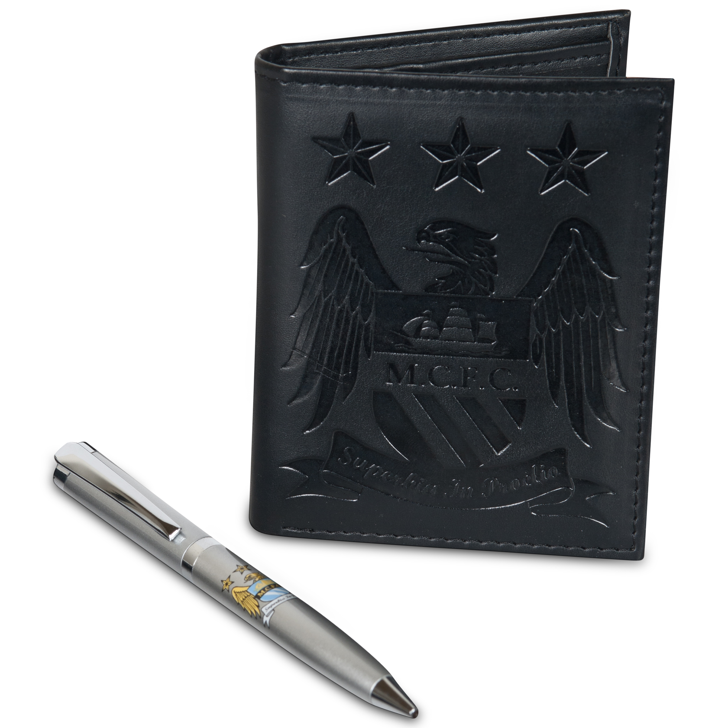Manchester City Wallet & Pen Set