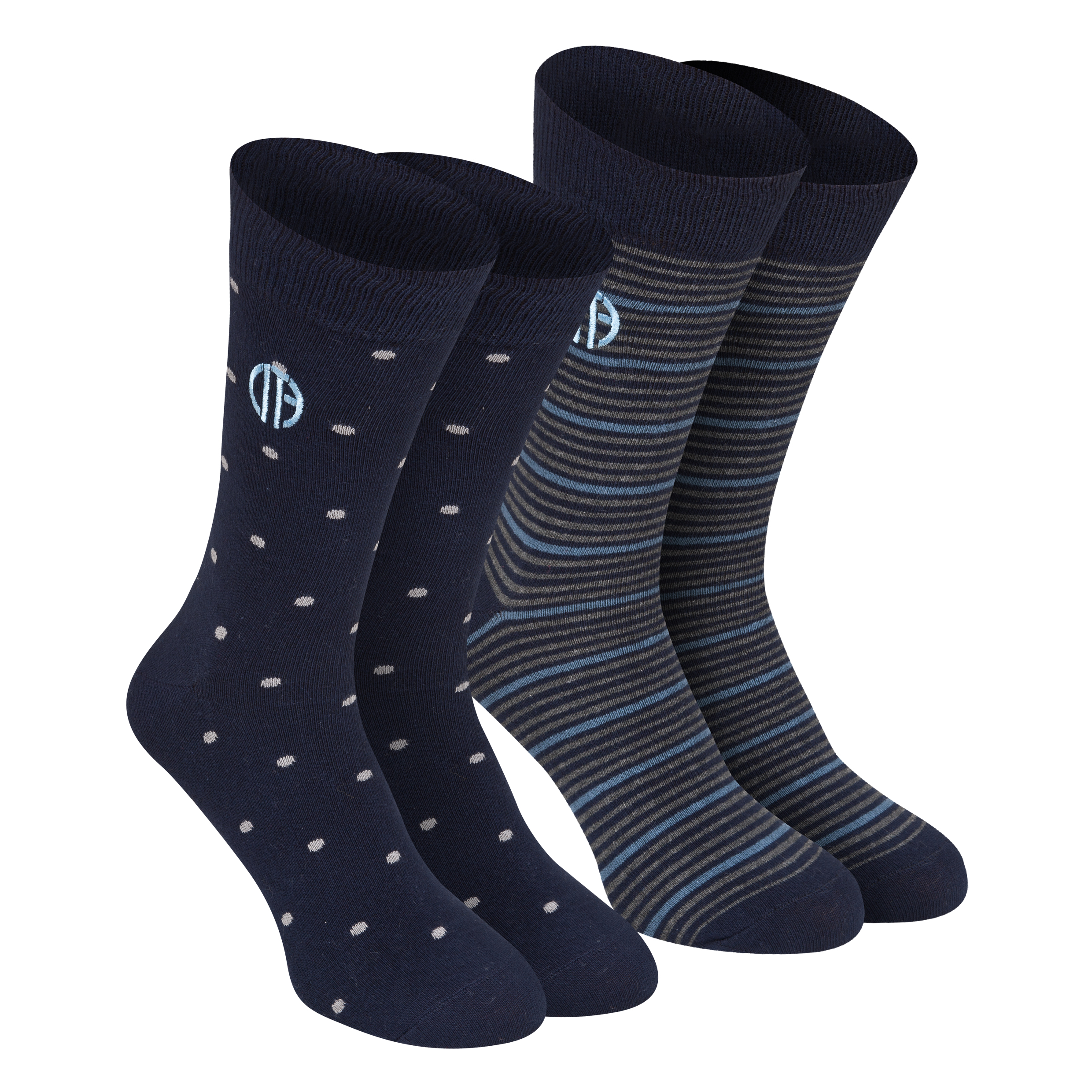Manchester City 2PK Dress Socks - Mens Navy