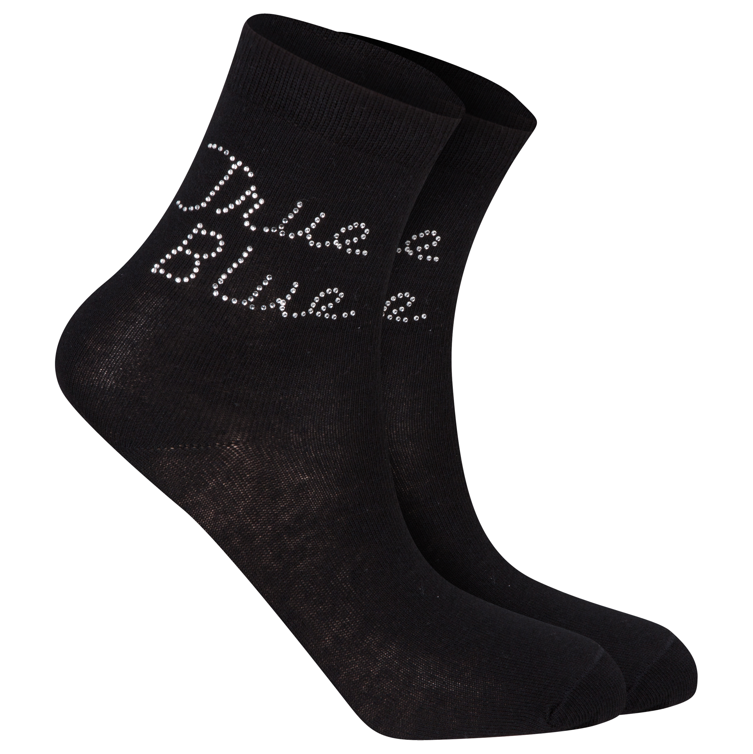 Manchester City Diamante Socks - Womens Black