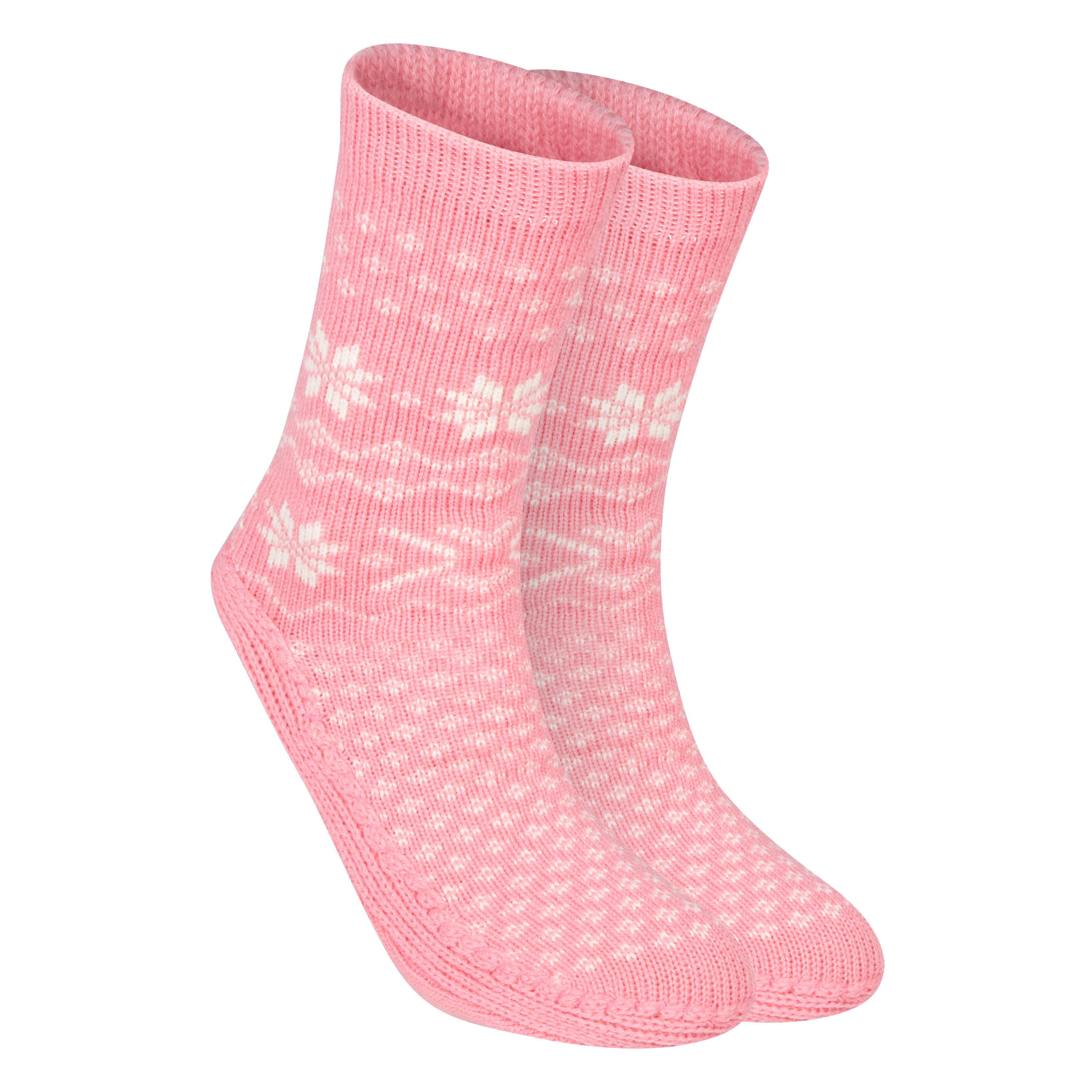 Manchester City Slipper Socks - Womens Pink