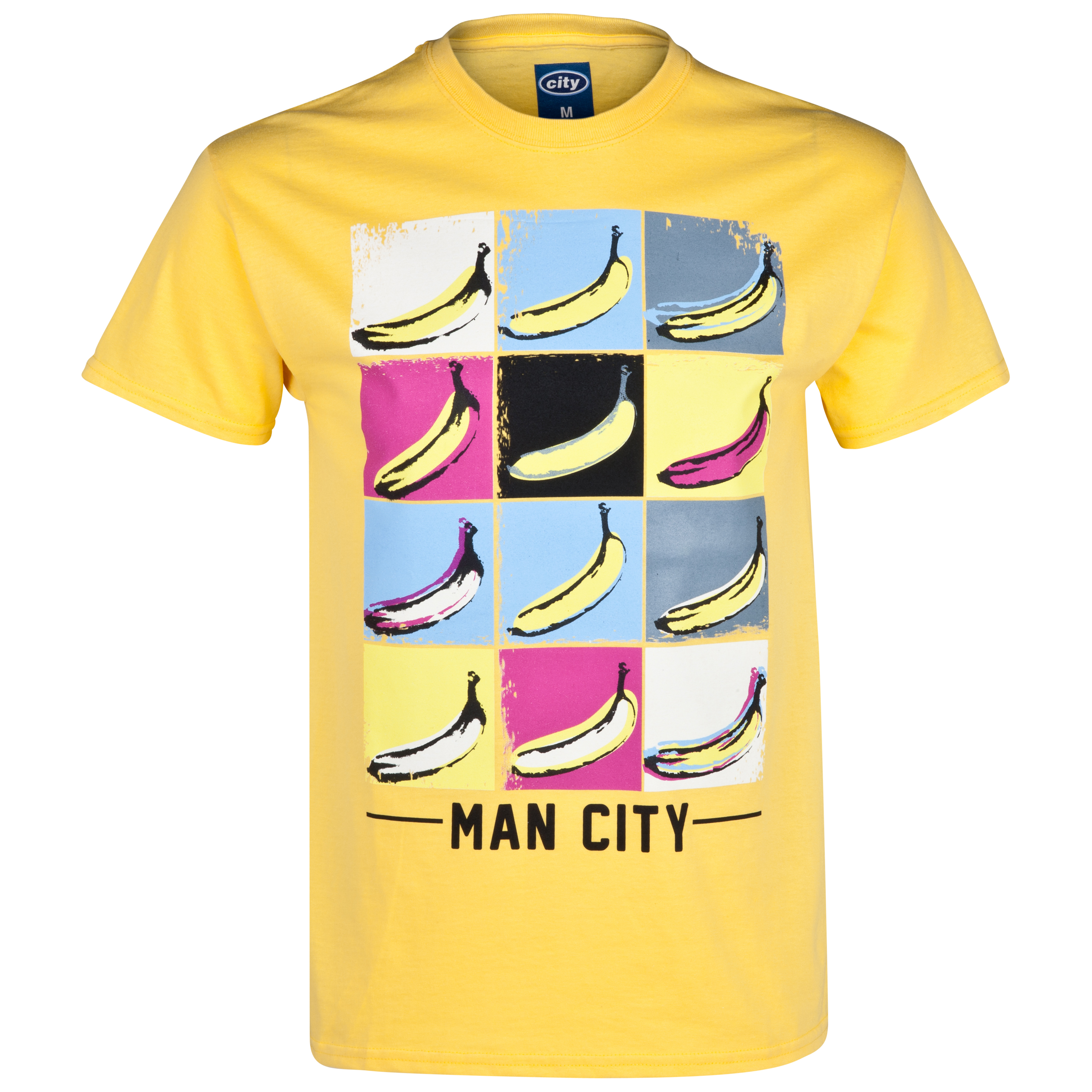 Manchester City 2for20 Bananas T-Shirt - Mens Yellow