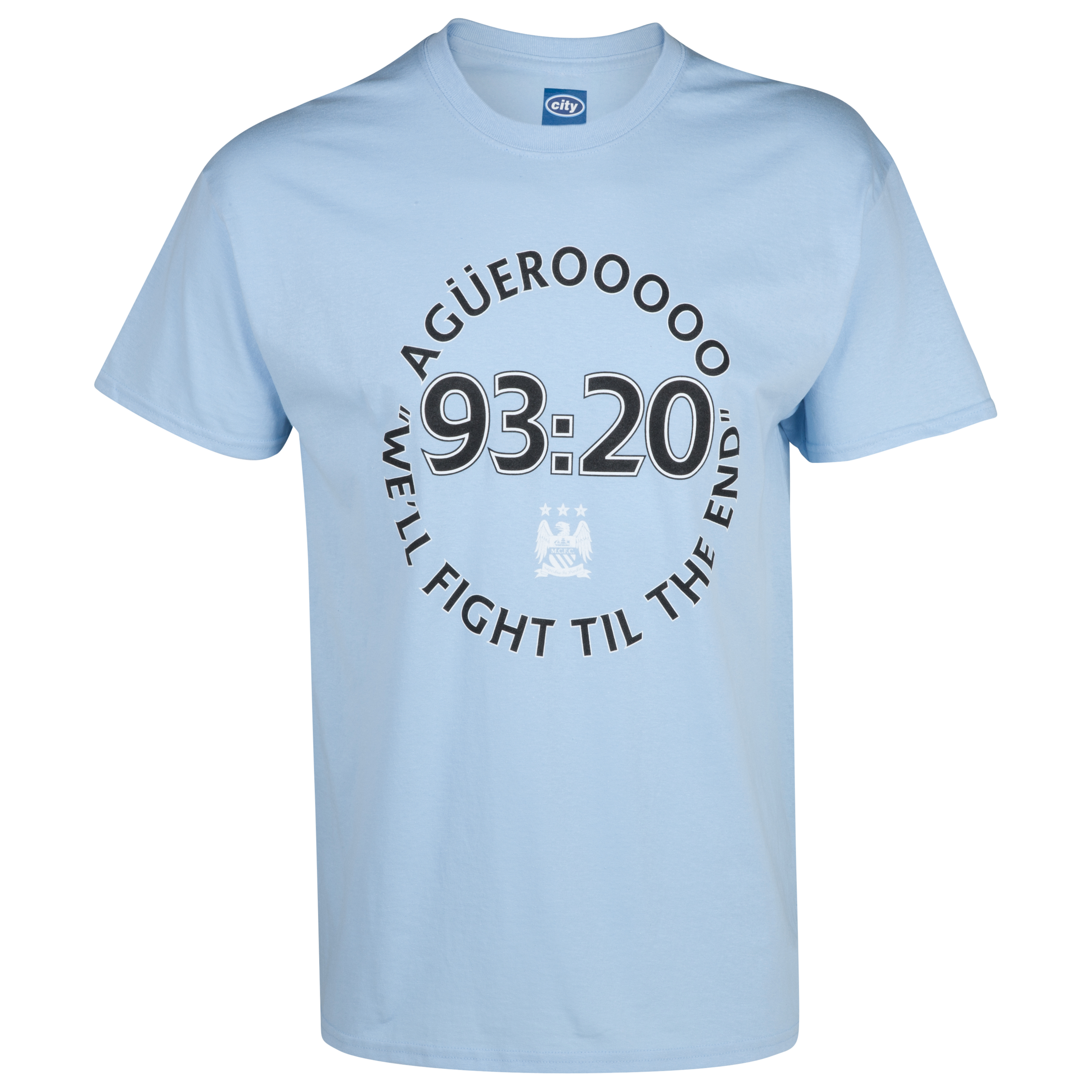 Manchester City 2for20 9320 T-Shirt - Mens Sky Blue