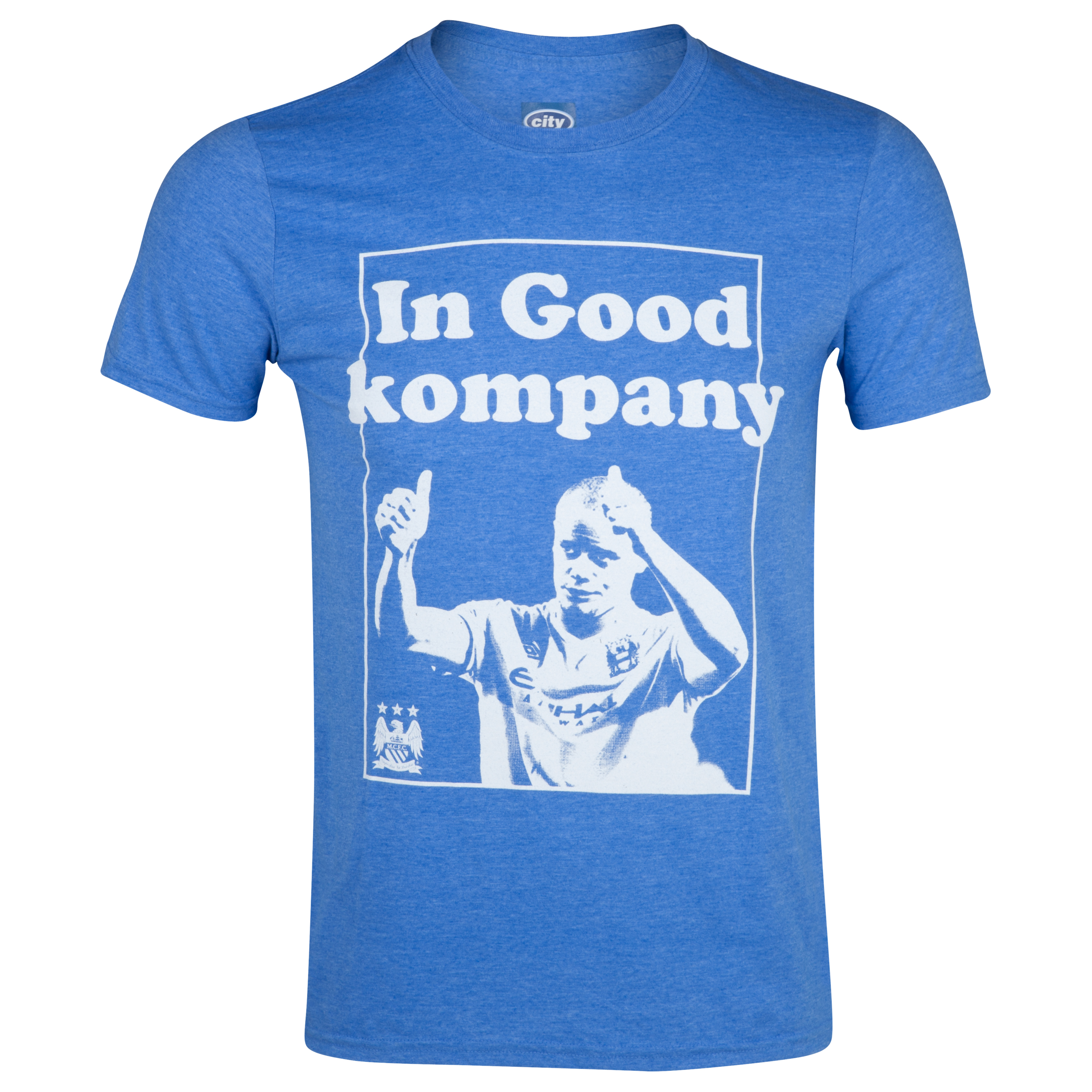 Manchester City 2for20 Kompany T-Shirt - Mens Royal Blue