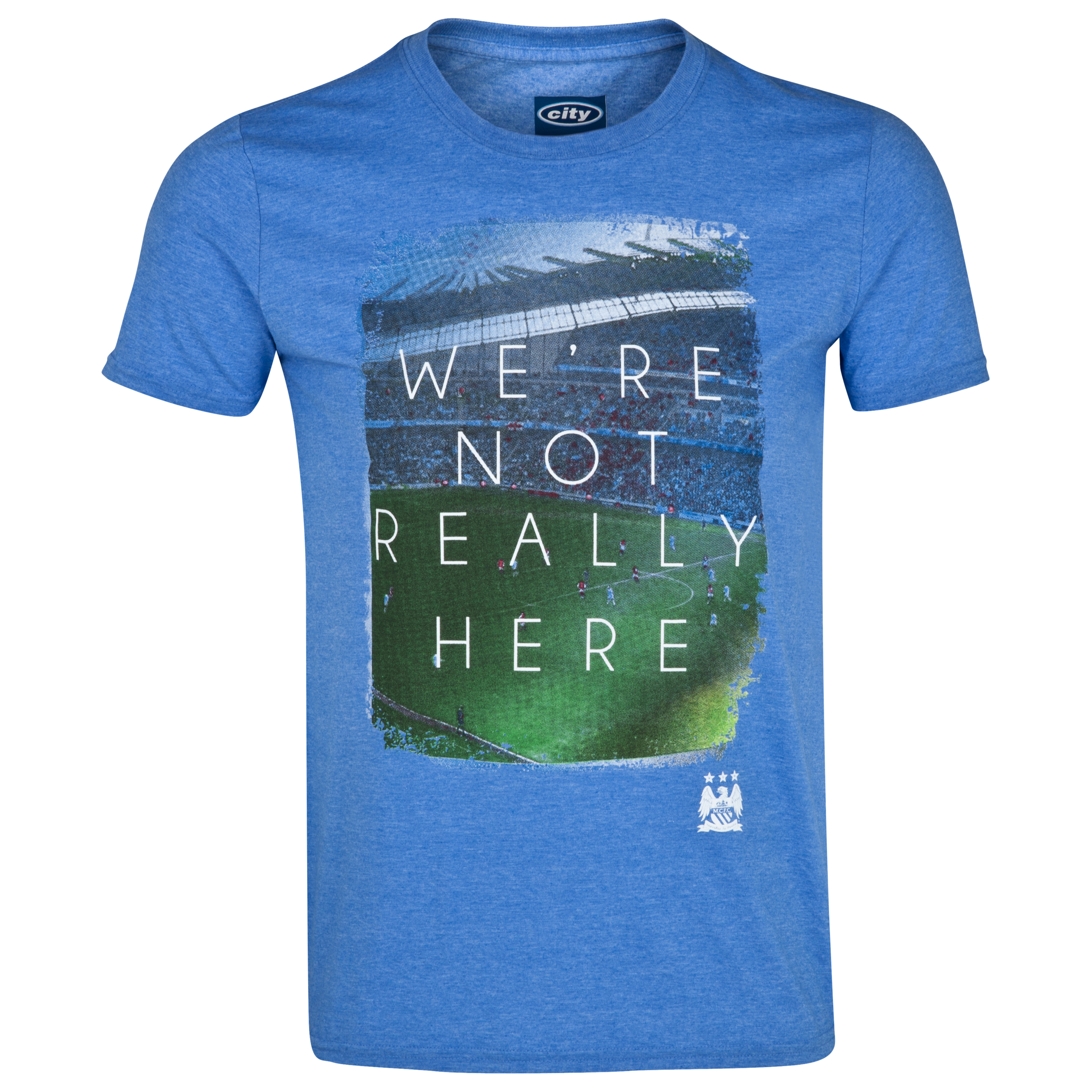 Manchester City 2for20 Not Really T-Shirt - Mens Royal Blue