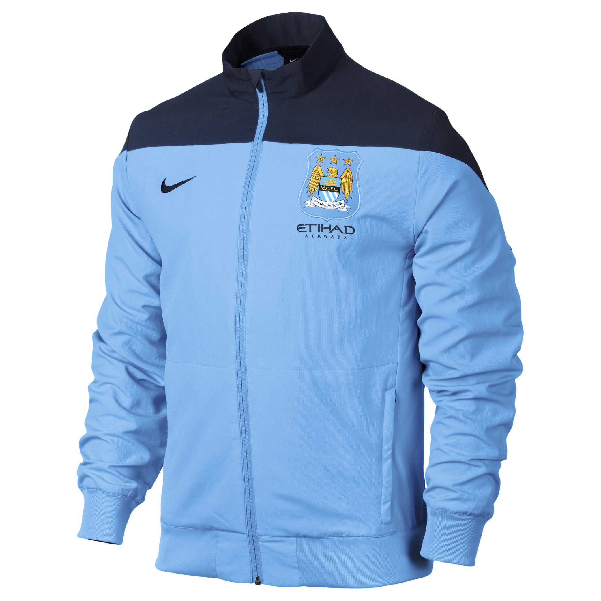 Manchester City Sideline Woven Track Jacket - Mens Blue