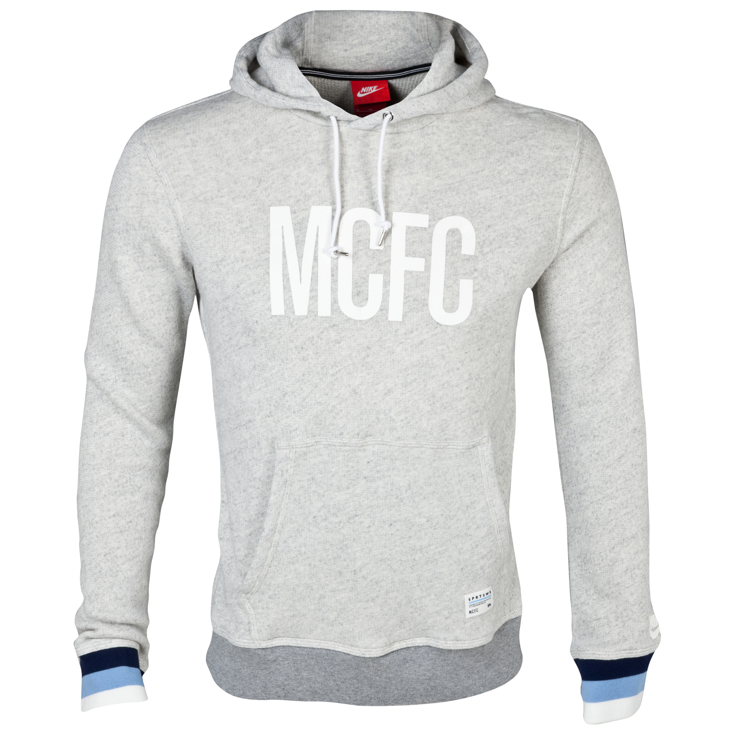 Manchester City Covert Hoody - Mens Grey
