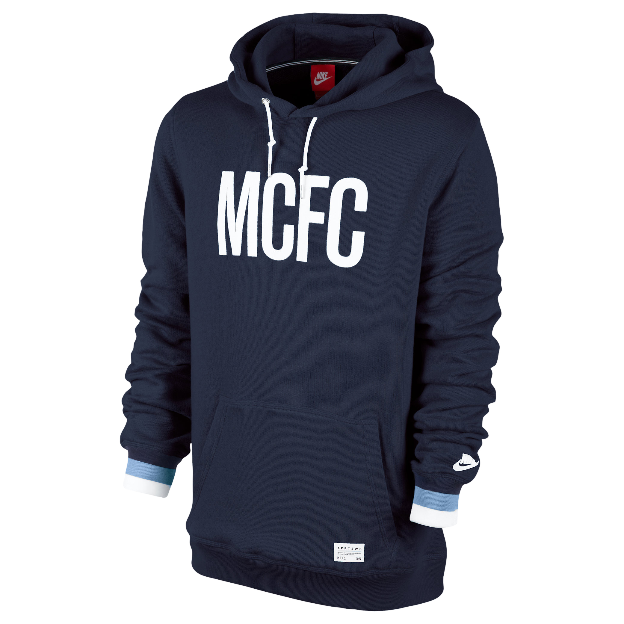 Manchester City Covert Hoody - Mens Blue