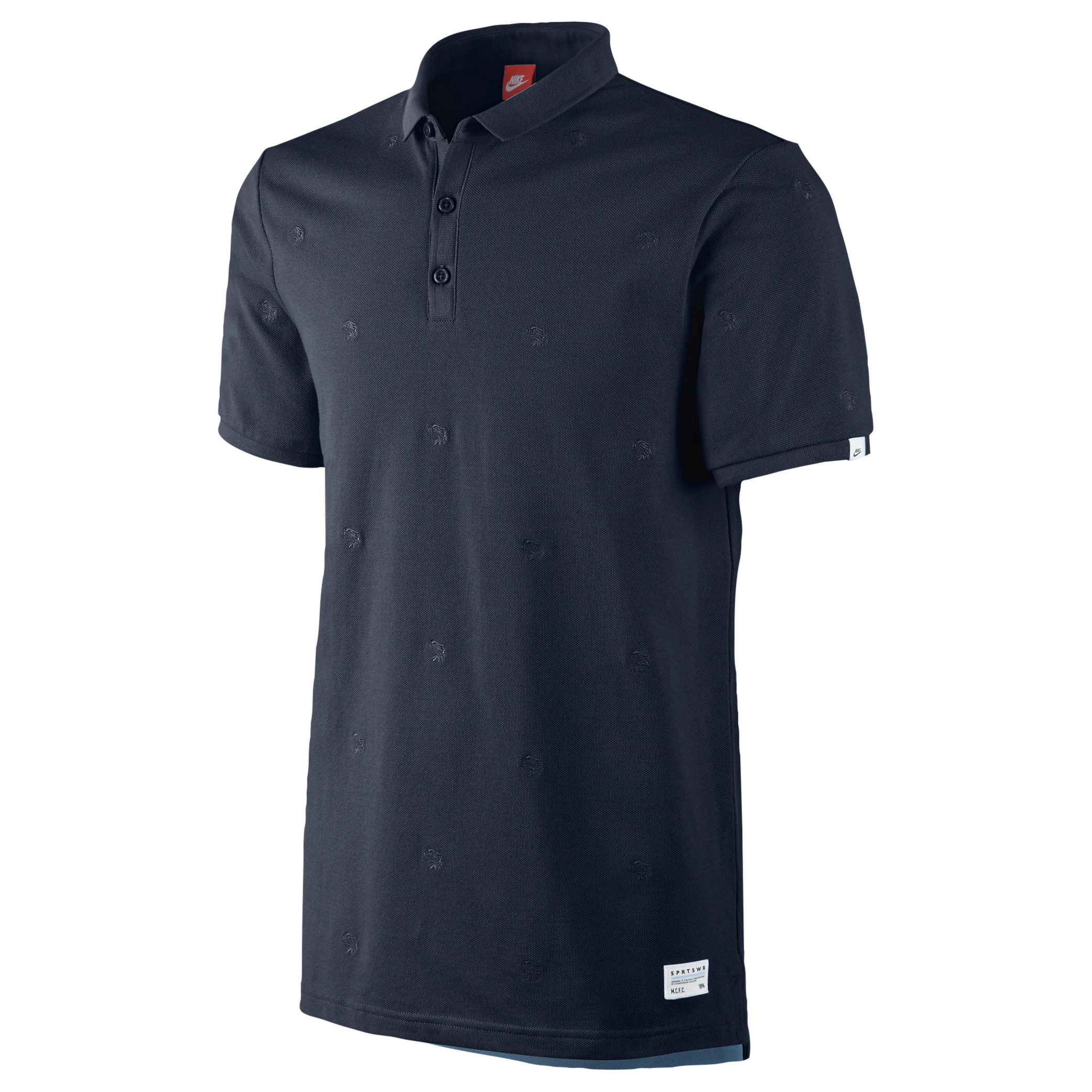 Manchester City Covert Embroidered Polo - Mens Blue