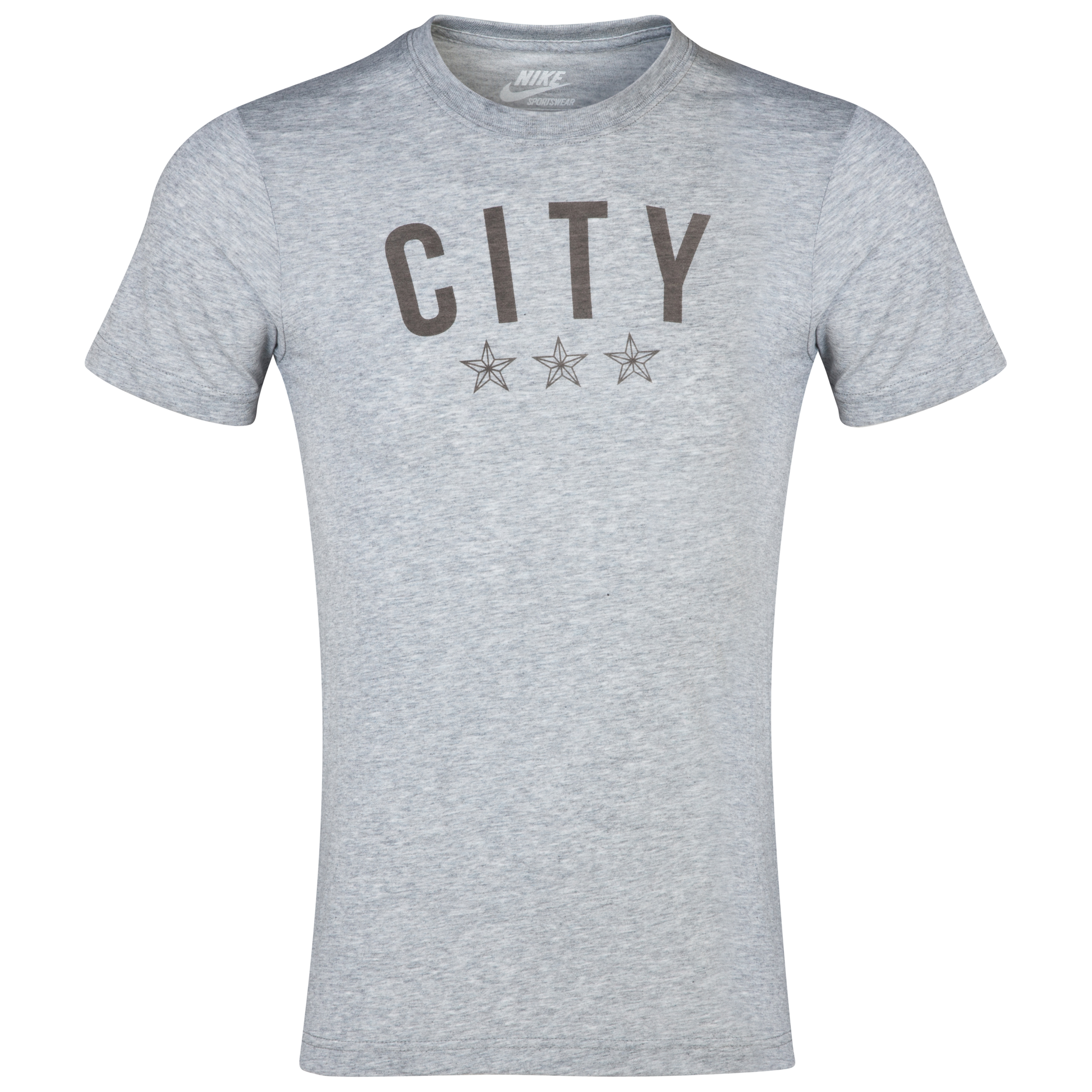 Manchester City Covert Graphic T-Shirt - Mens Grey