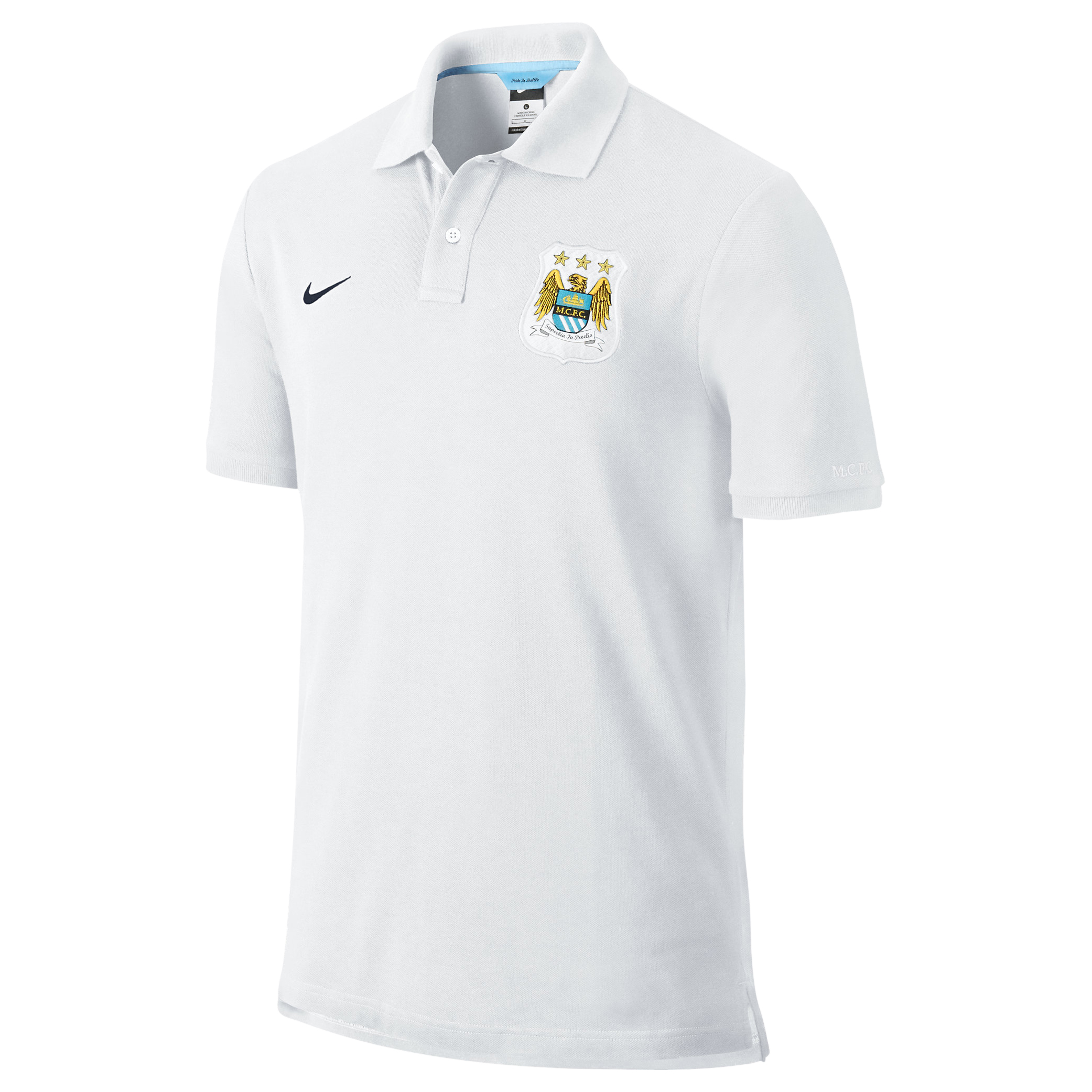 Manchester City Authentic Grand Slam Polo - Mens White