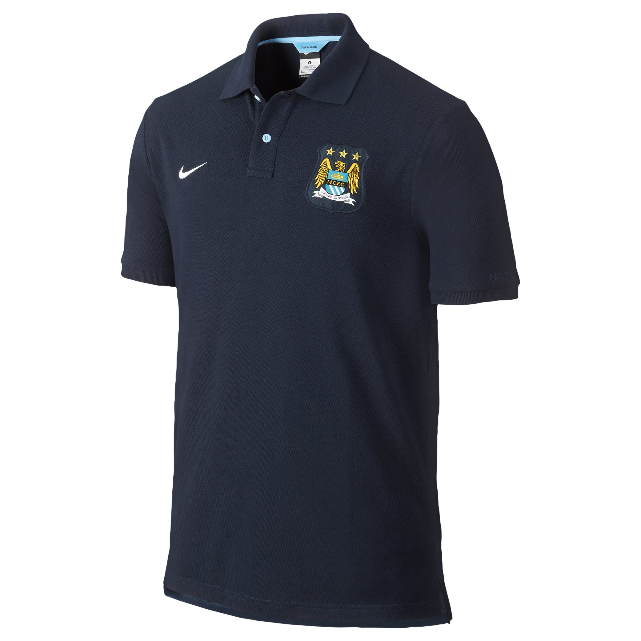 Manchester City Authentic Grand Slam Polo - Mens Blue