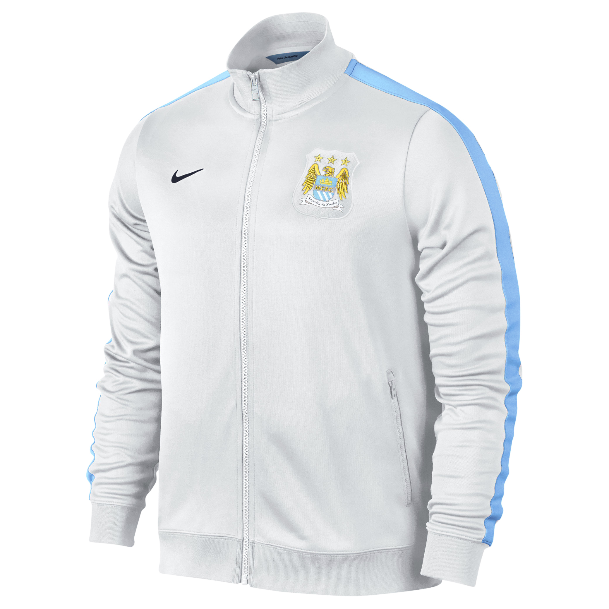Manchester City Authentic N98 Jacket - Mens White