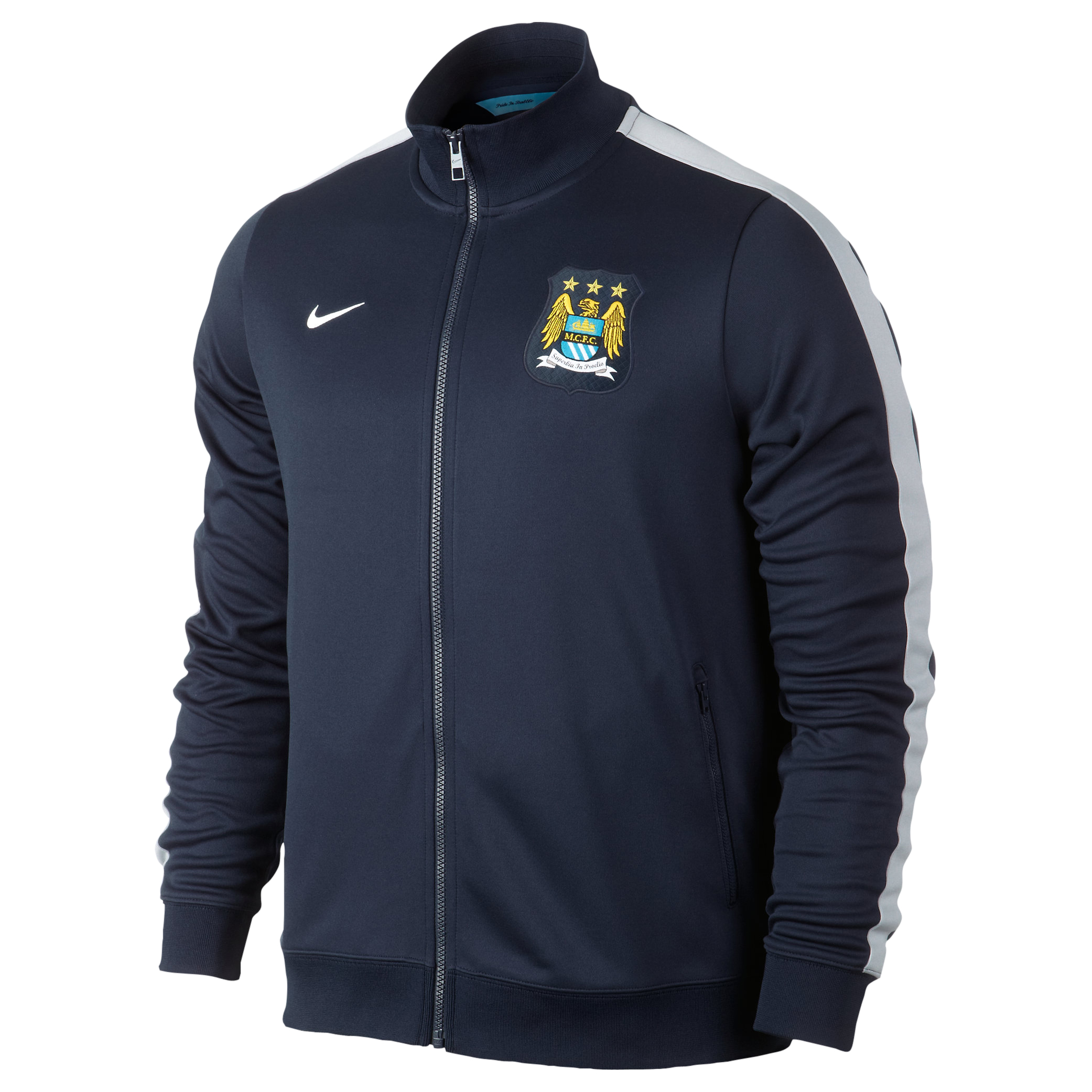 Manchester City Authentic N98 Jacket - Mens Blue