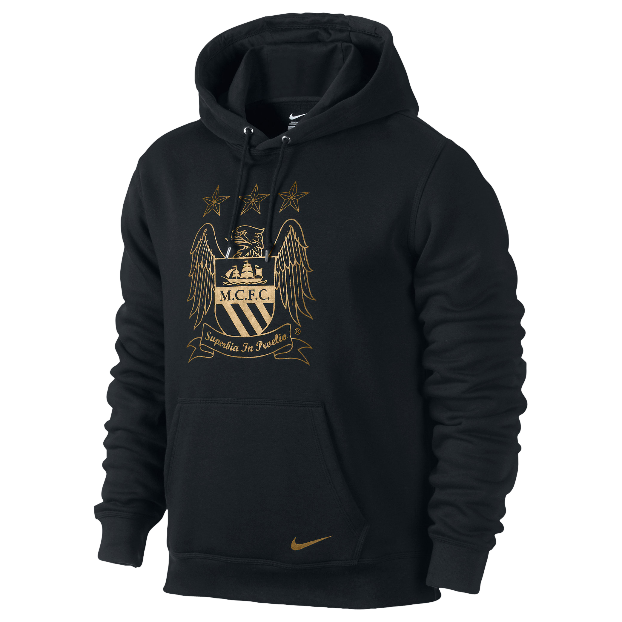 Manchester City Core Hoody - Mens Black